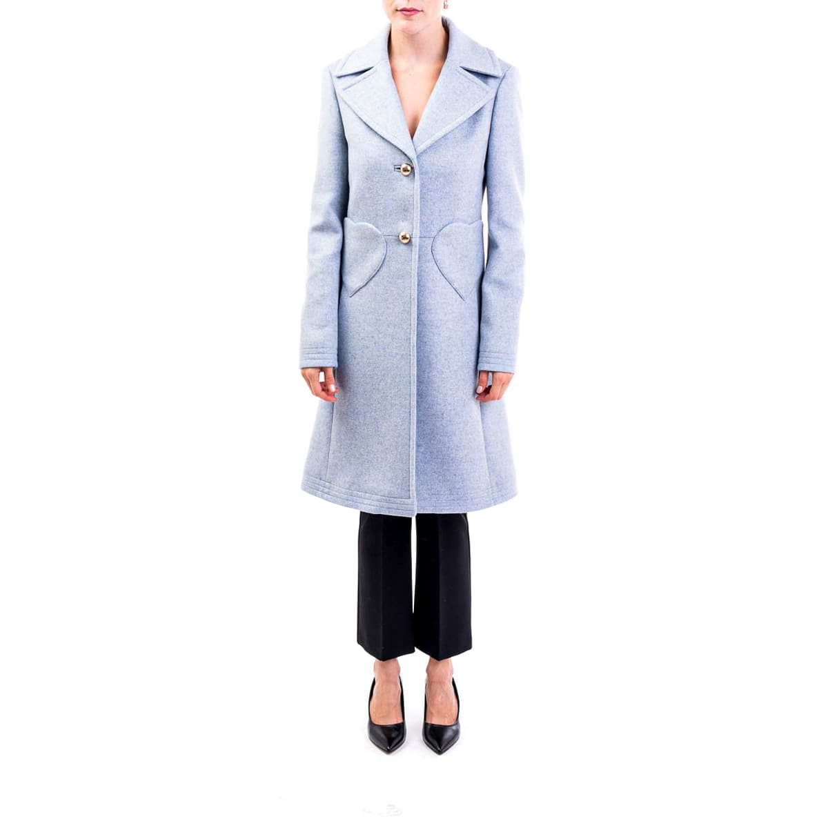 Photo of  Blumarine Wool Blend Coat- shop Blumarine jackets online sales