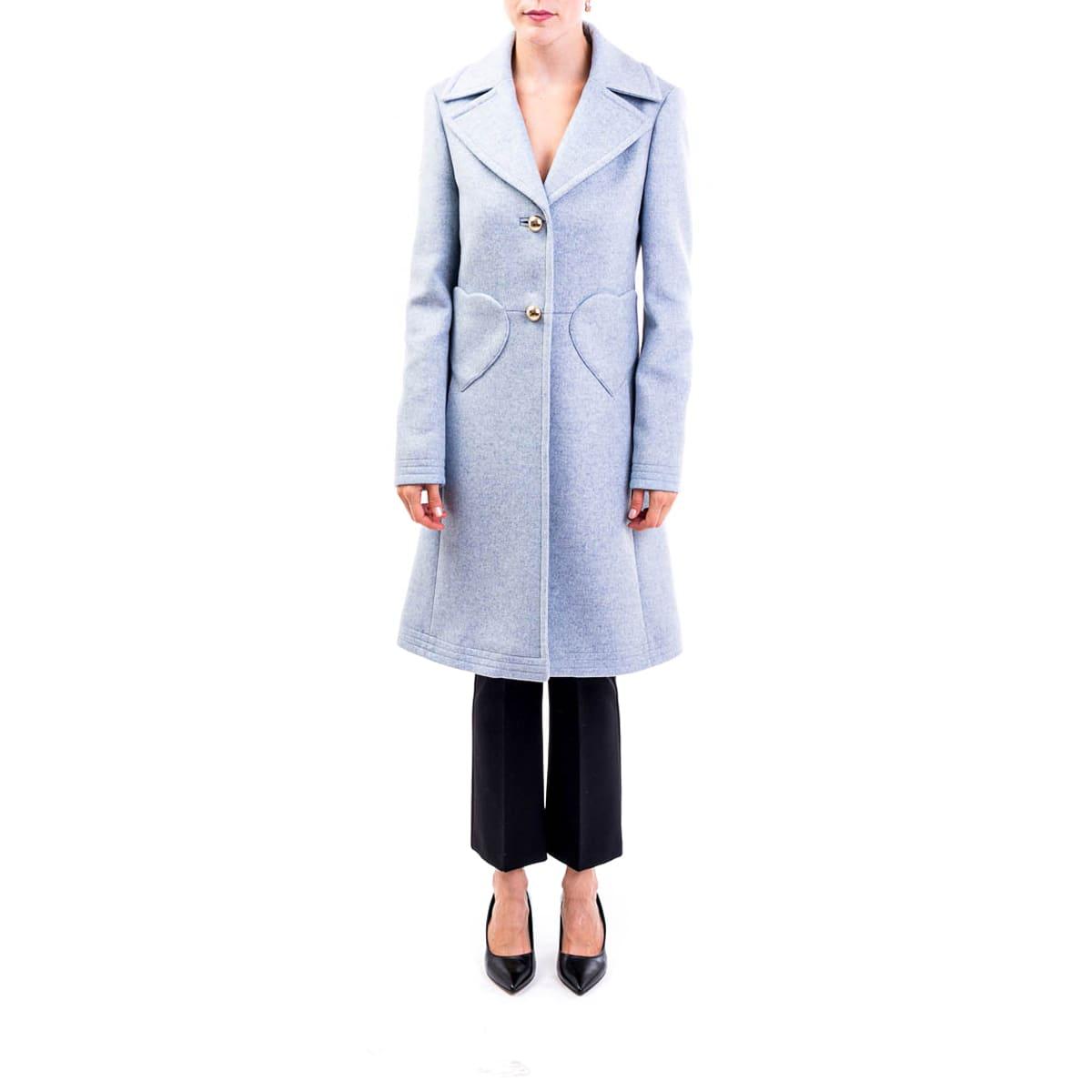 Photo of  Blumarine Wool Blend Coat- shop Blumarine jackets online sales