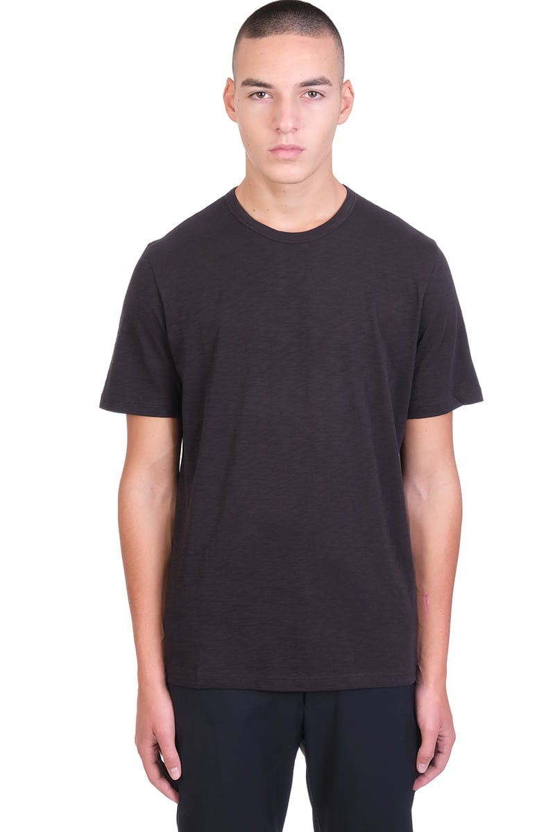 Theory ESSENTIAL TEE C T-SHIRT IN BLACK COTTON