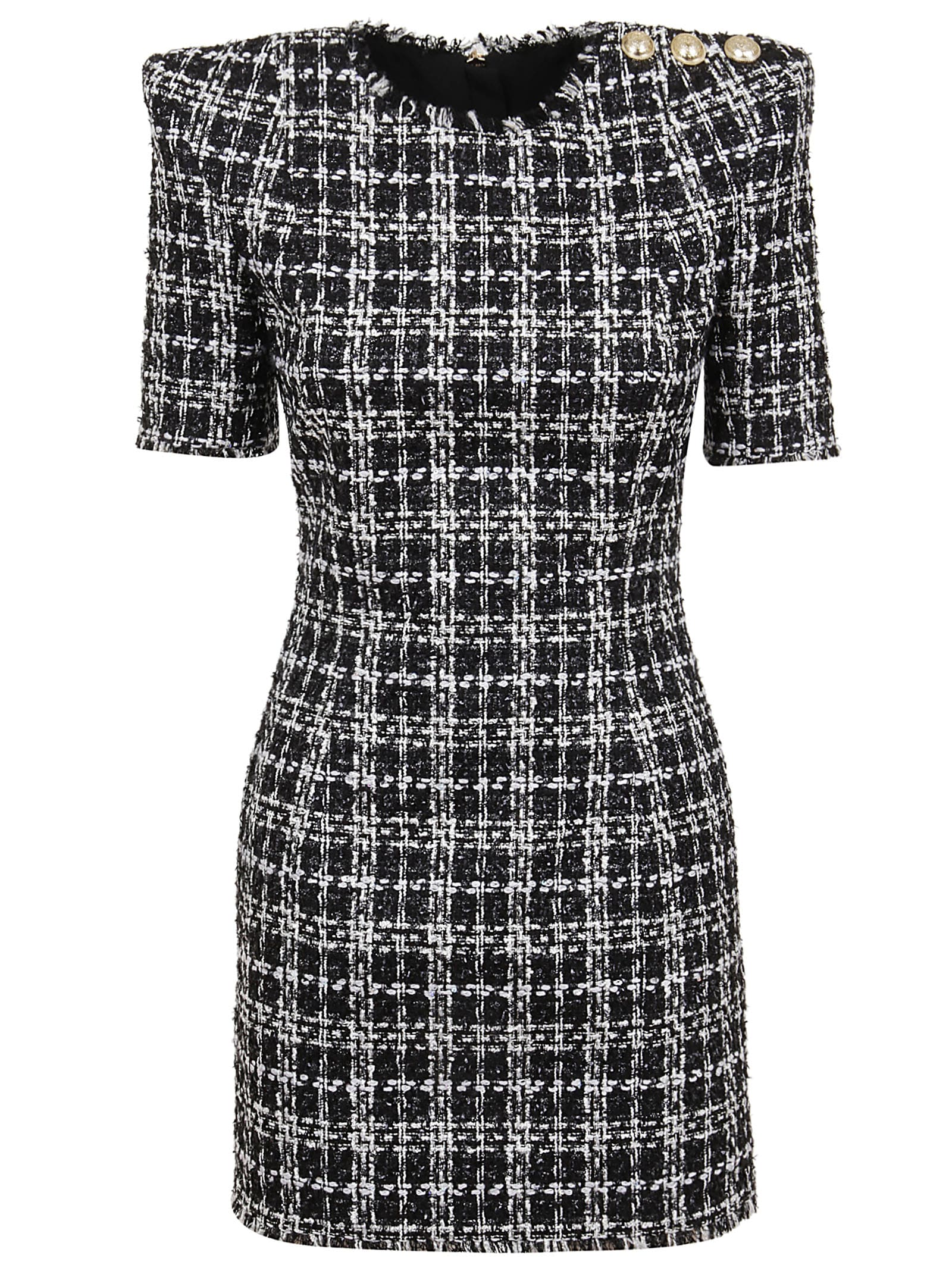 Buy Balmain Check Mini Dress online, shop Balmain with free shipping