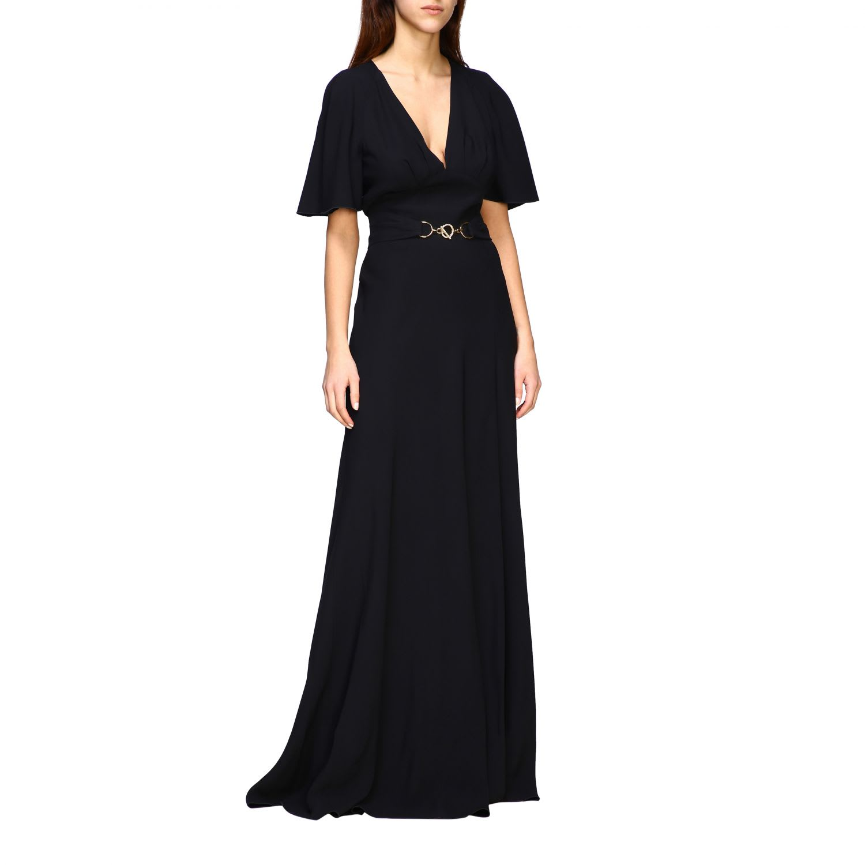 Buy Alberta Ferretti Dress Alberta Ferretti Long Satin Dress online, shop Alberta Ferretti with free shipping