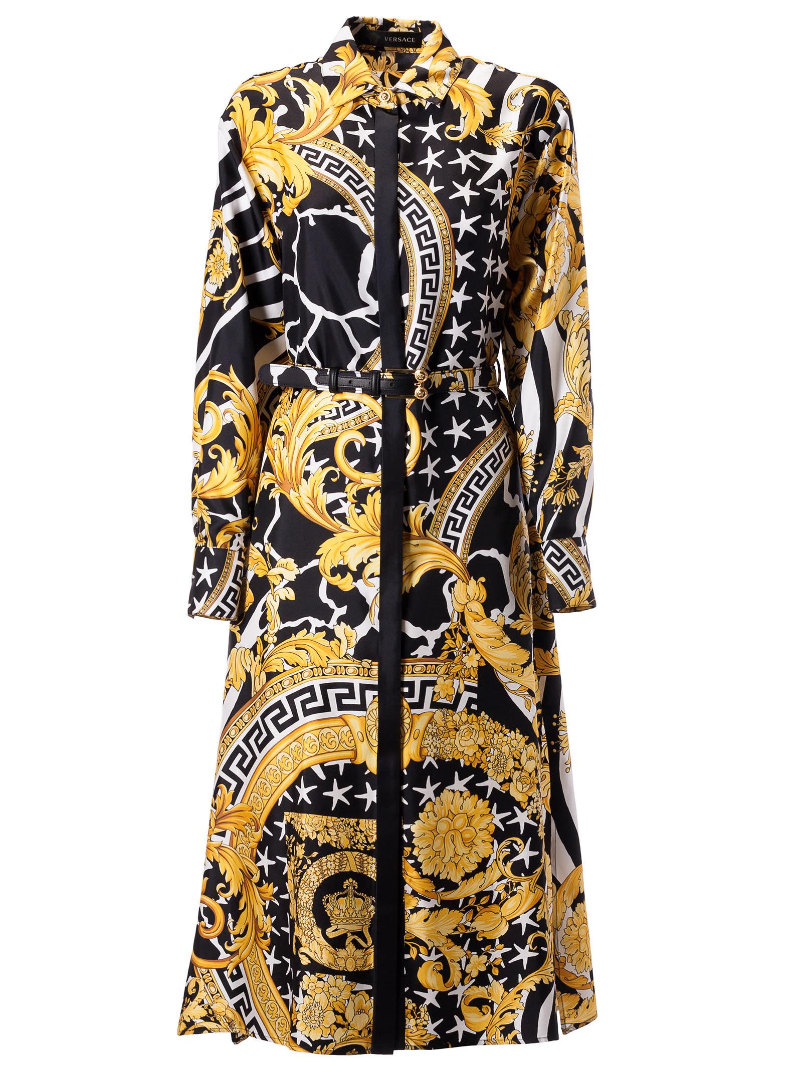 Versace Baroque Print Long Dress
