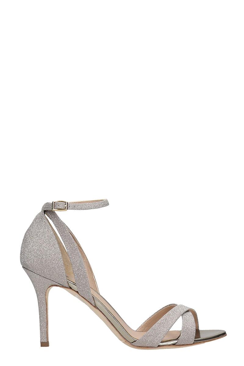 The Seller Sandals In Platinum Glitter