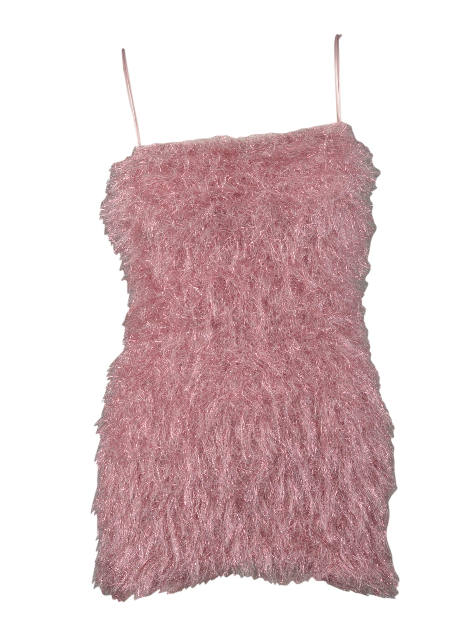 Buy Laneus Fur Effect Dress online, shop Laneus with free shipping