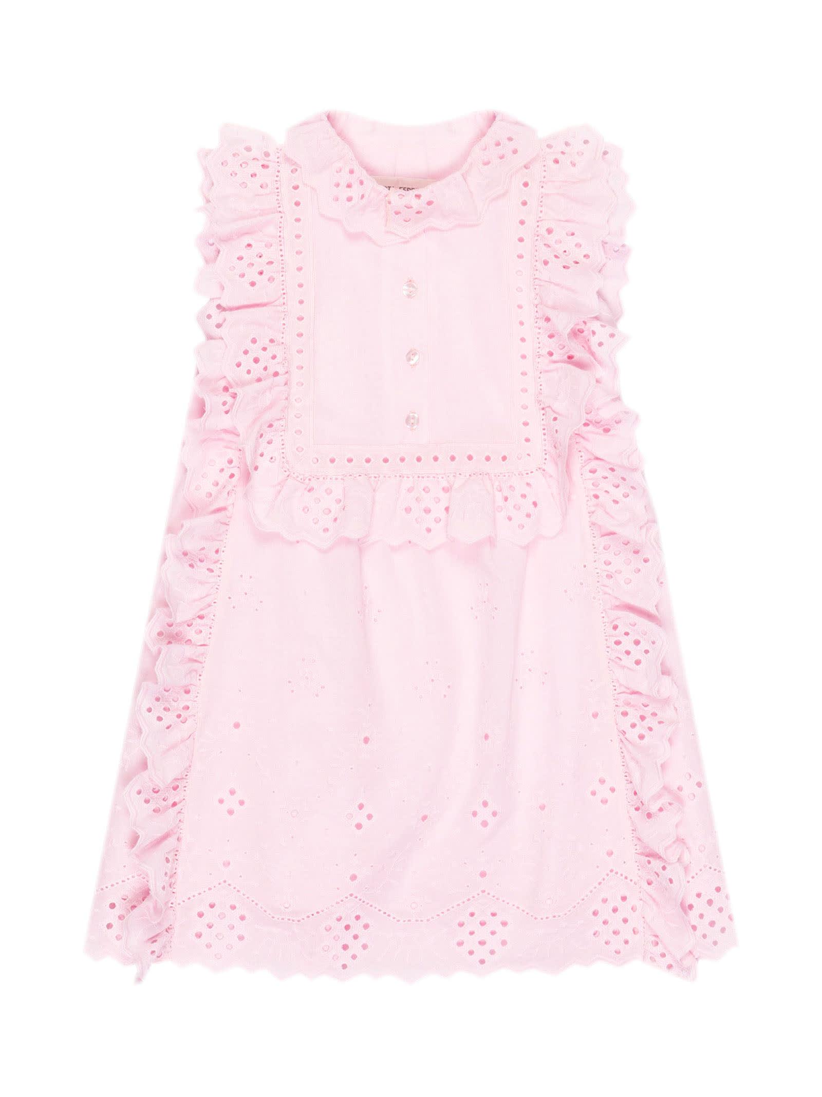 Buy Alberta Ferretti Pink Cotton Dress online, shop Alberta Ferretti with free shipping