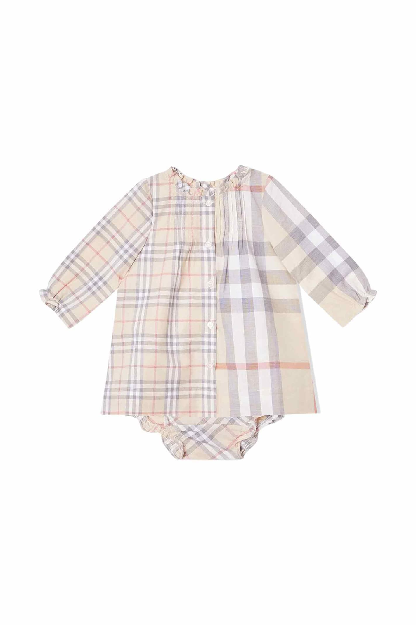 Buy Burberry Cotton Baby Dress online, shop Burberry with free shipping