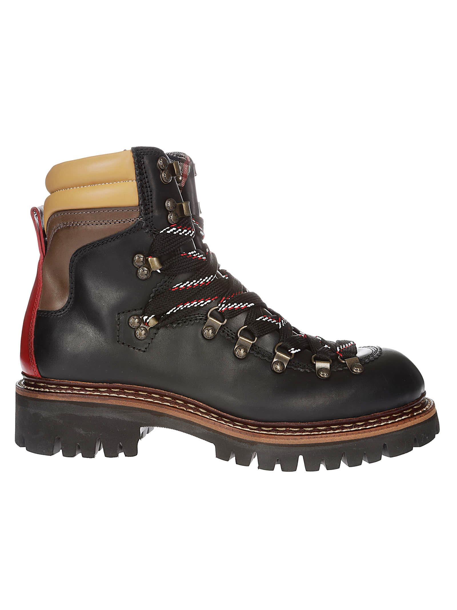 Dsquared2 Pannelled Colour Boots