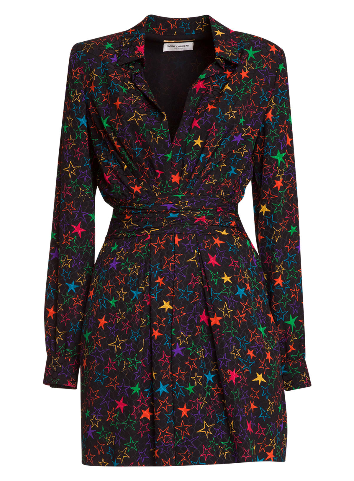 Saint Laurent Printed Crepe Dress