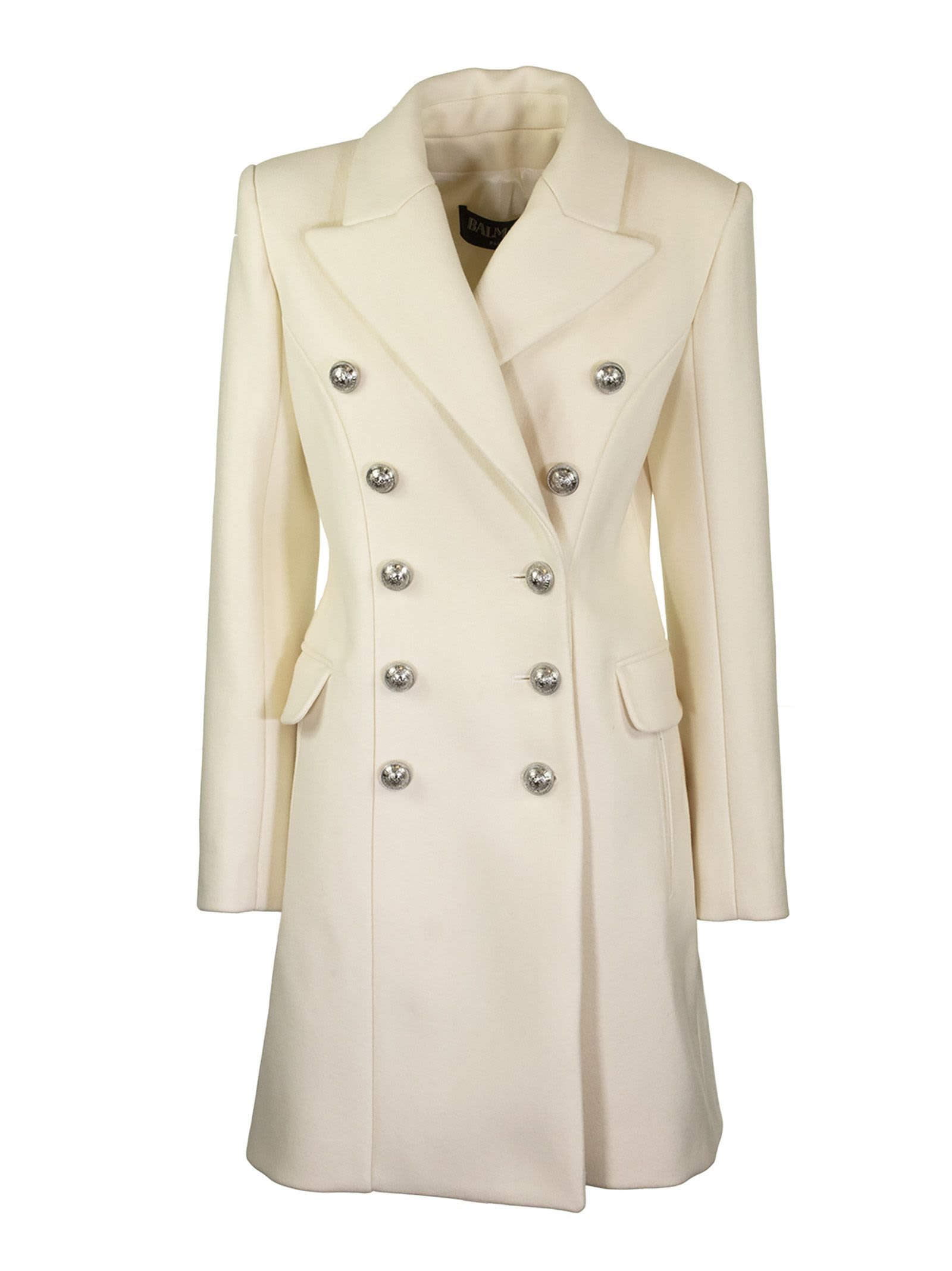 Balmain Overcoat Blanc