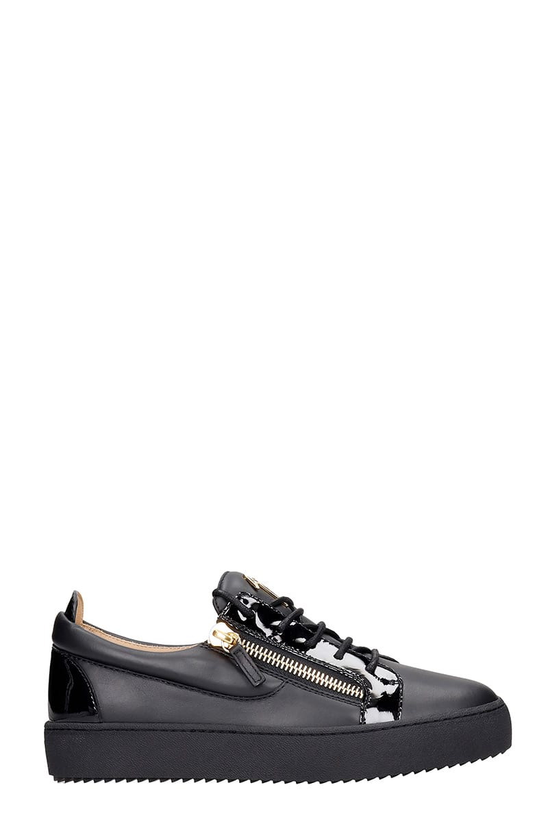 Giuseppe Zanotti Frankie Sneakers In Black Leather