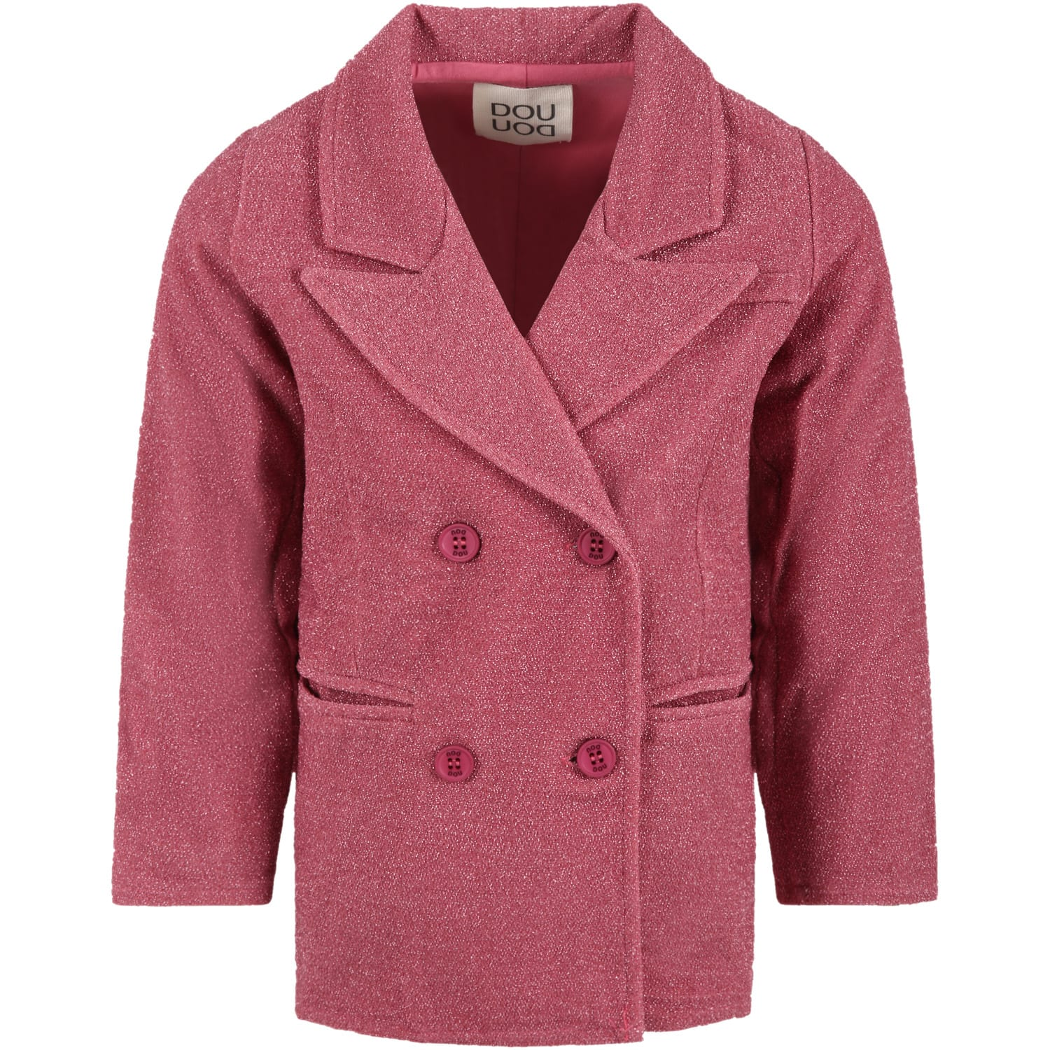 Fuchsia Jacket For Girl With Lurex Details
