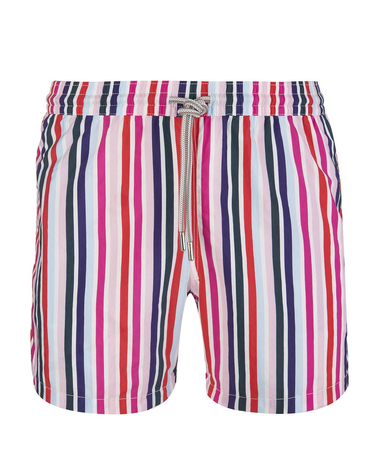 Multicolor Vertical Striped Swimsuit