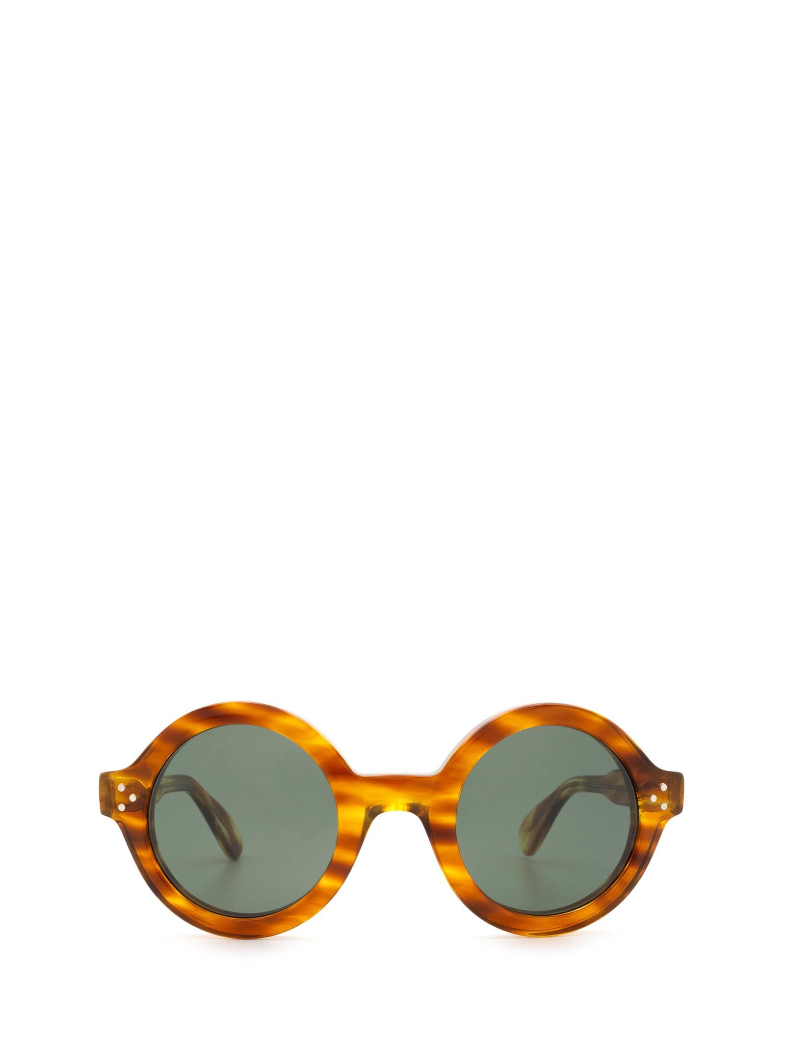 Lesca Lesca Phil Sun écaille Jaspé Sunglasses