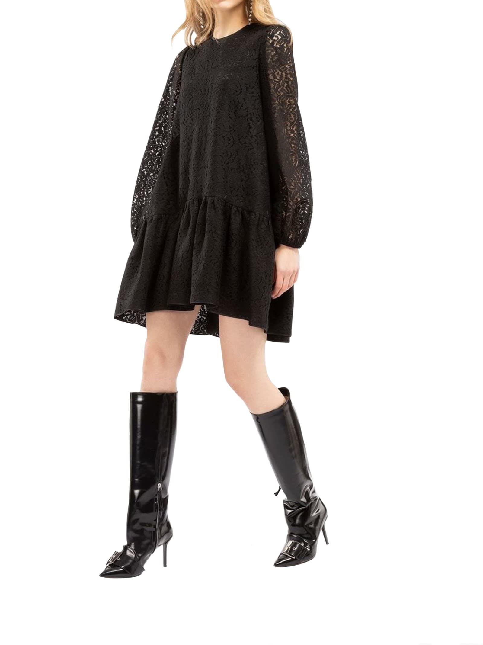 N°21 Womans Black Cotton Dress