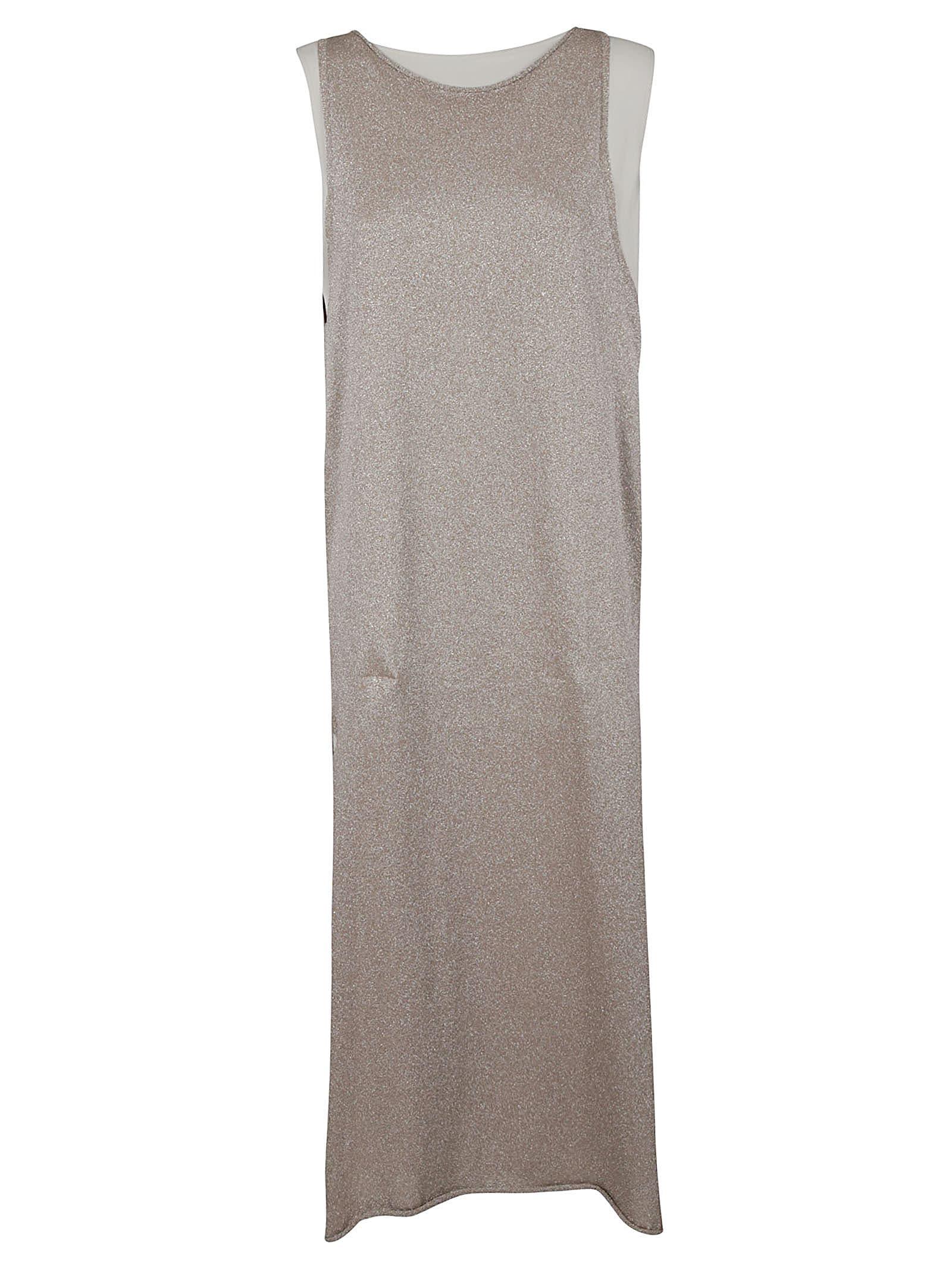 Buy Side Slit Glitter Applique Sleeveless Dress online, shop Fabiana Filippi with free shipping