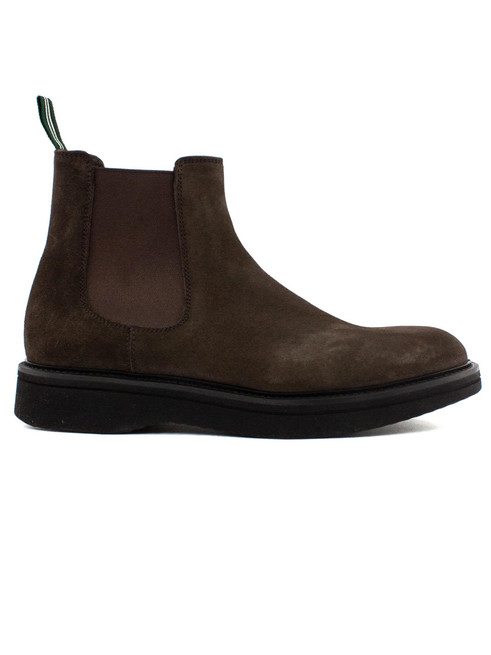 Dark Brown Suede Ankle Boot