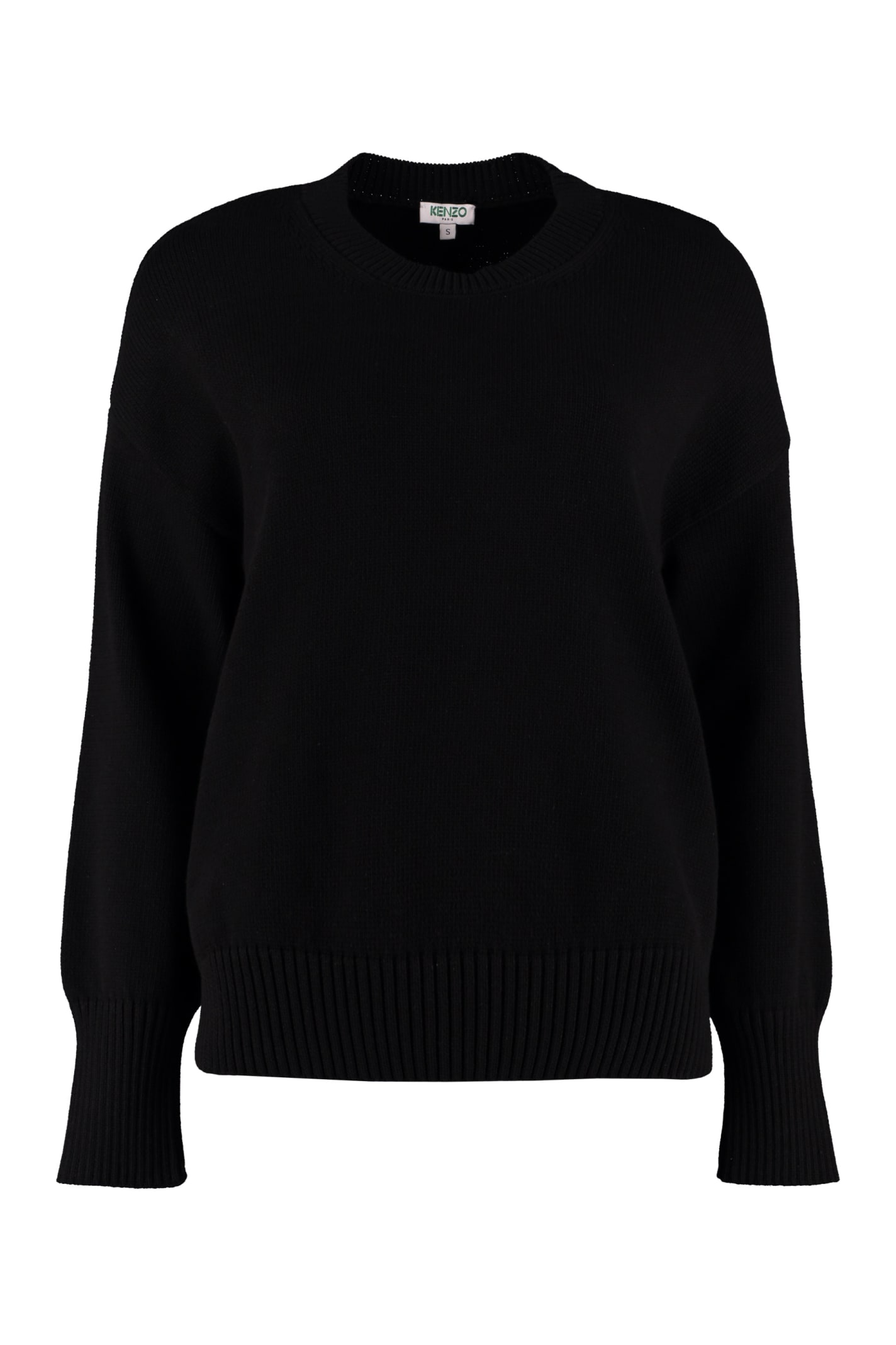 Kenzo Crew-neck Cotton Blend Sweater