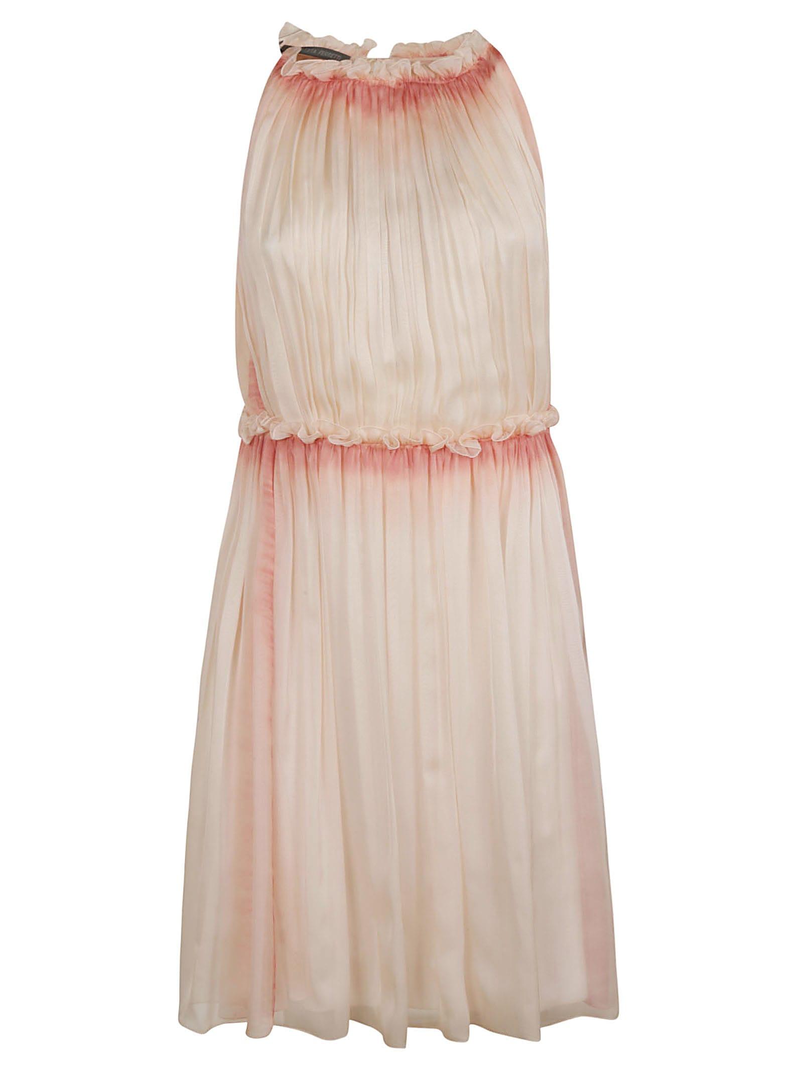 Alberta Ferretti Sleeveless Pleated Dress