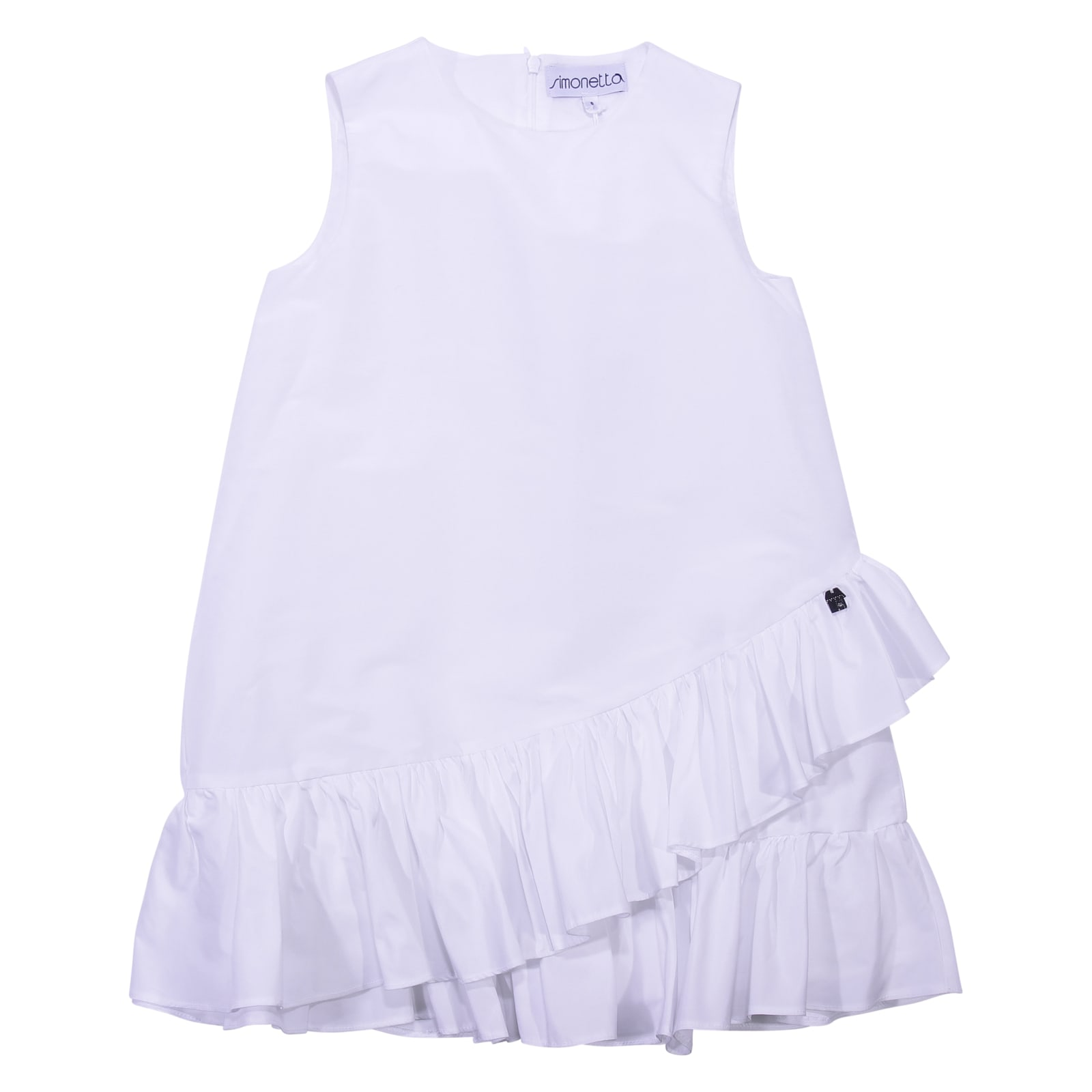 Simonetta White Ruffled Dress