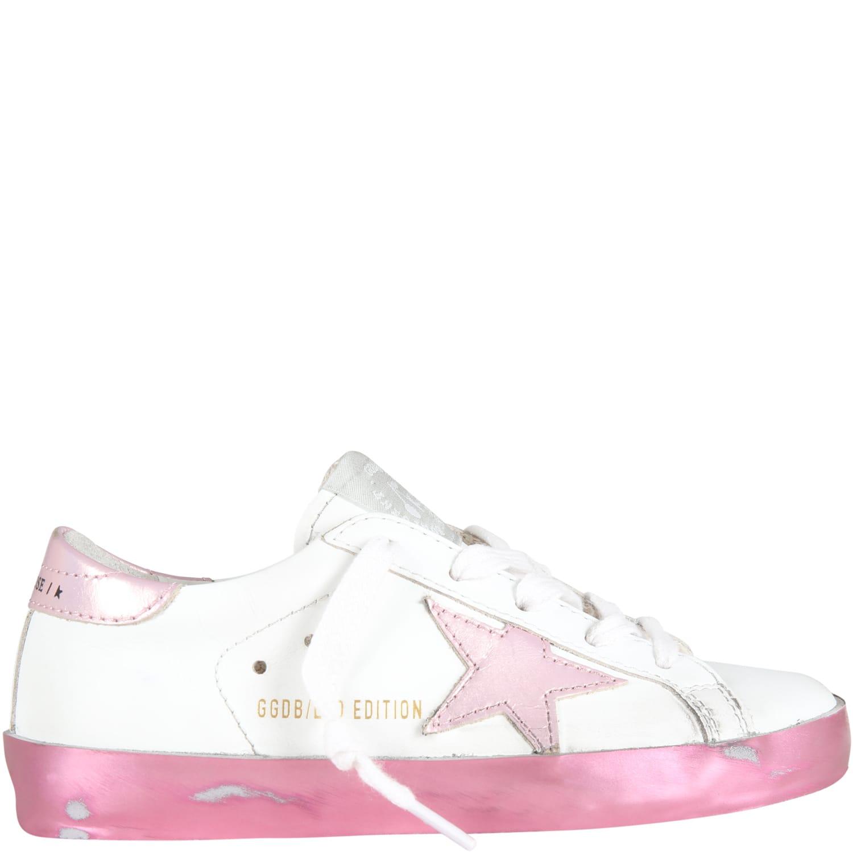 White basket Star Sneakers For Girl