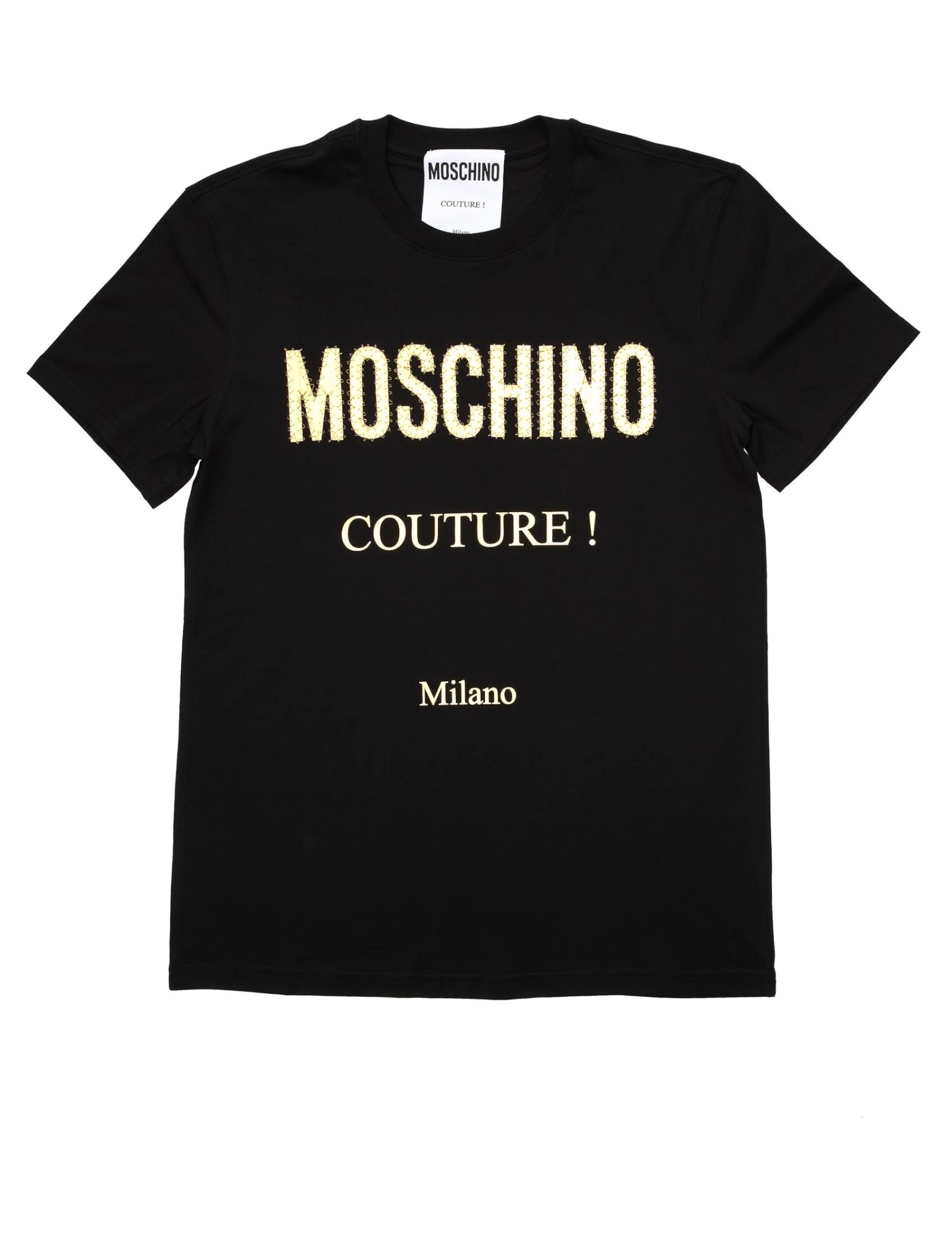 Moschino Cottons T-SHIRT IN JERSEY WITH GOLDEN LOGO