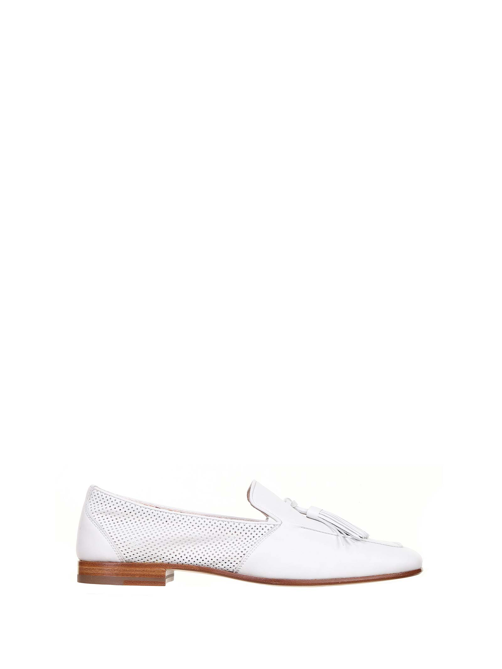 Loafer In White Leather