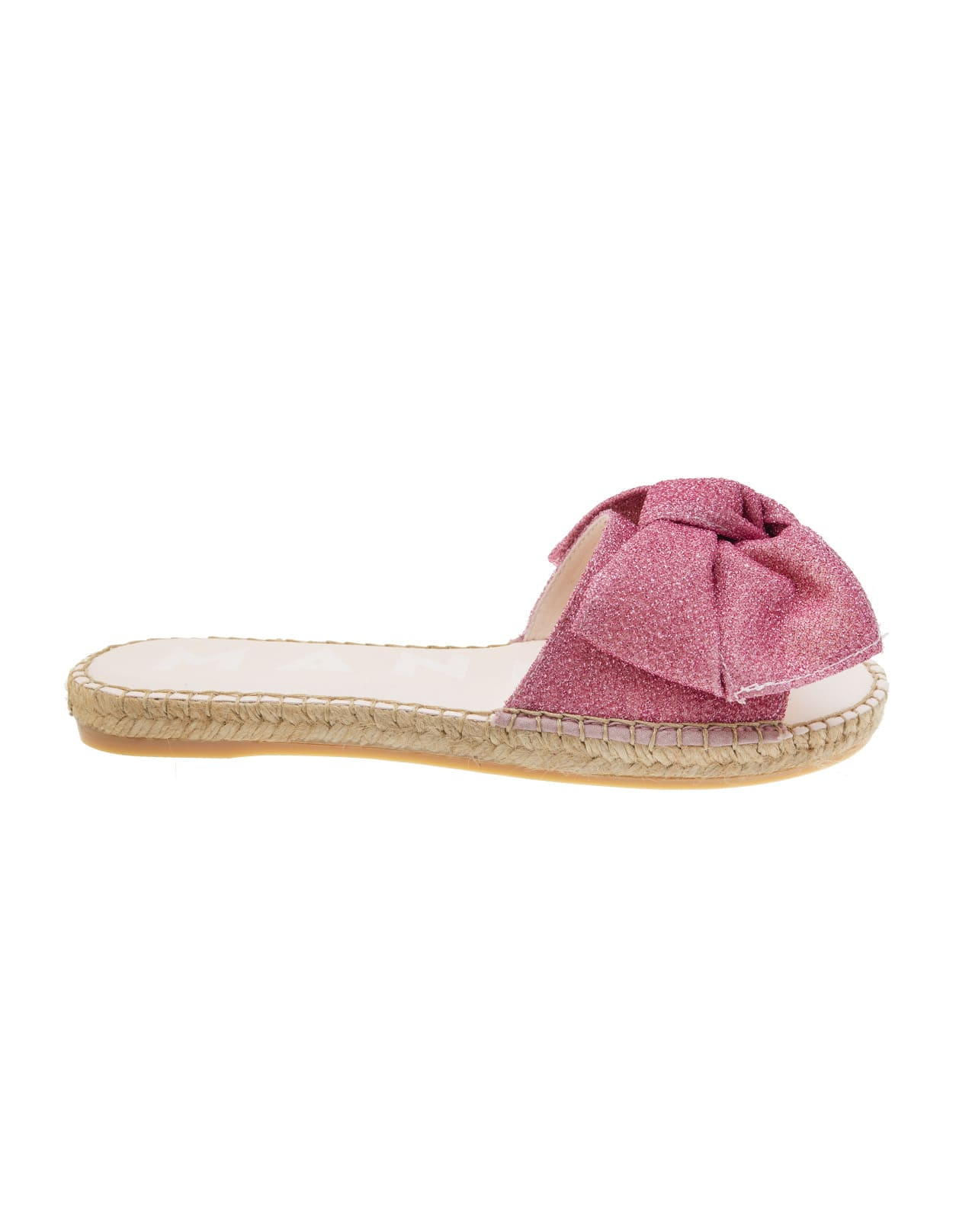 Pink Miami Flat Sandals With Bow