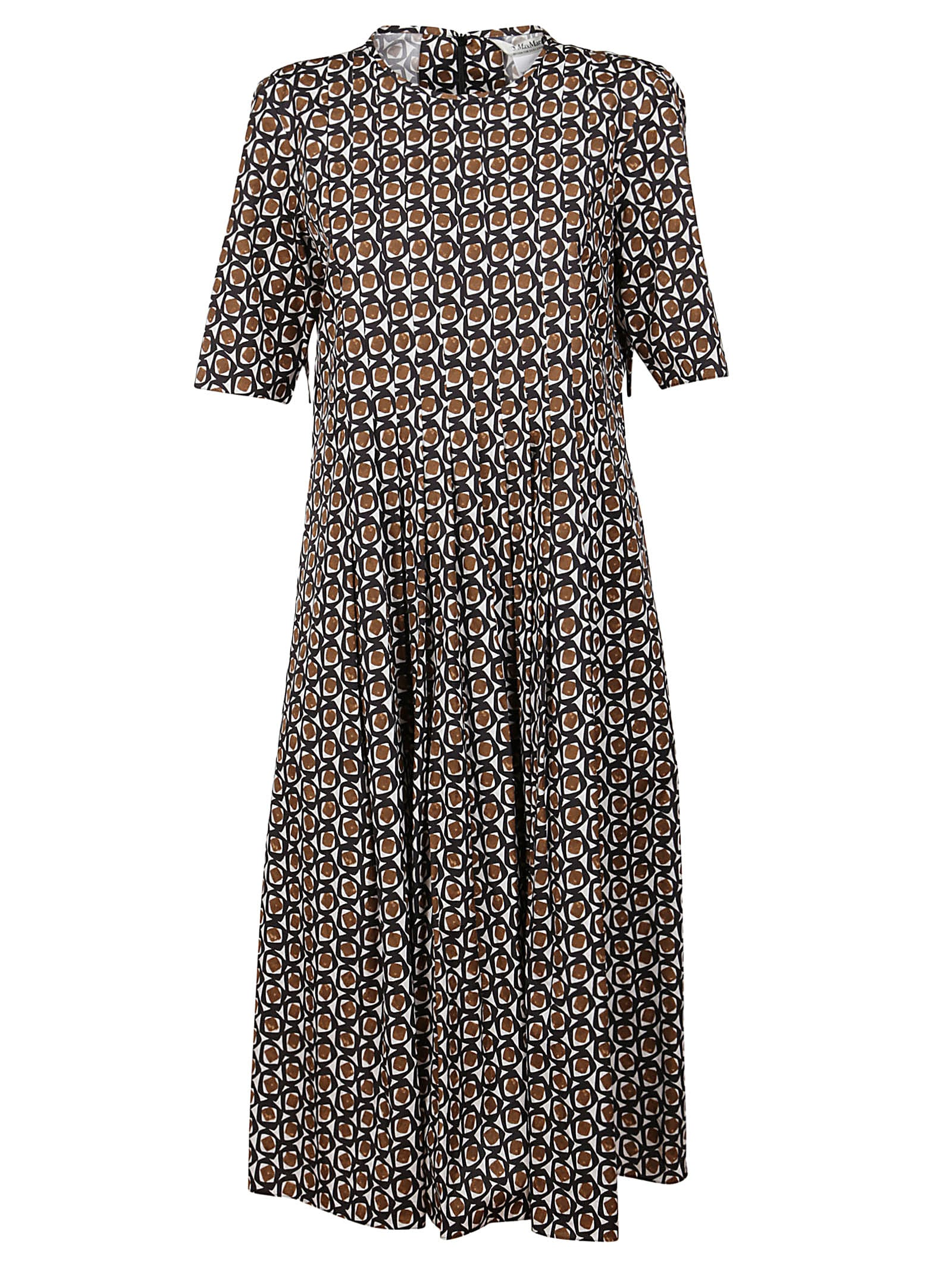 Buy S Max Mara Multicolor Cotton Dress online, shop S Max Mara with free shipping
