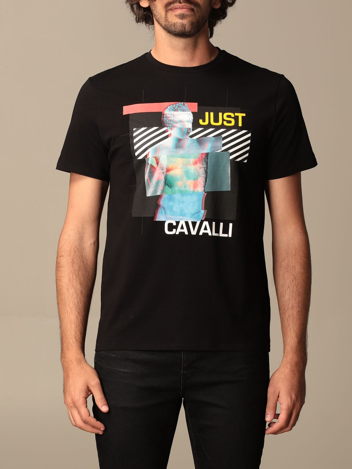 Just Cavalli Clothing T-SHIRT WITH TIGER PRINT