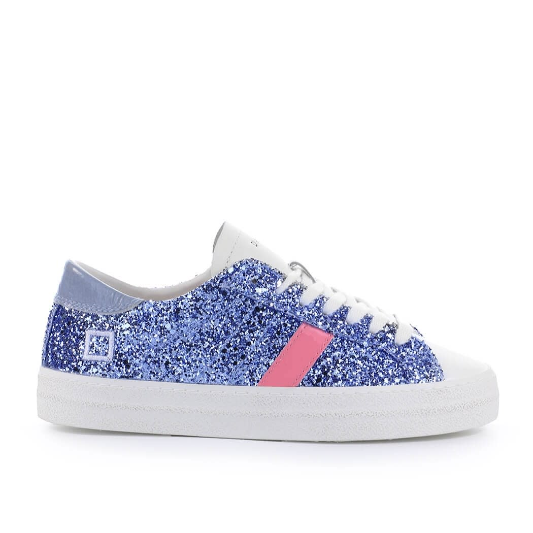 D.a.t.e. D.A.T.E. HILL LOW GLITTER LIGHT BLUE SNEAKER