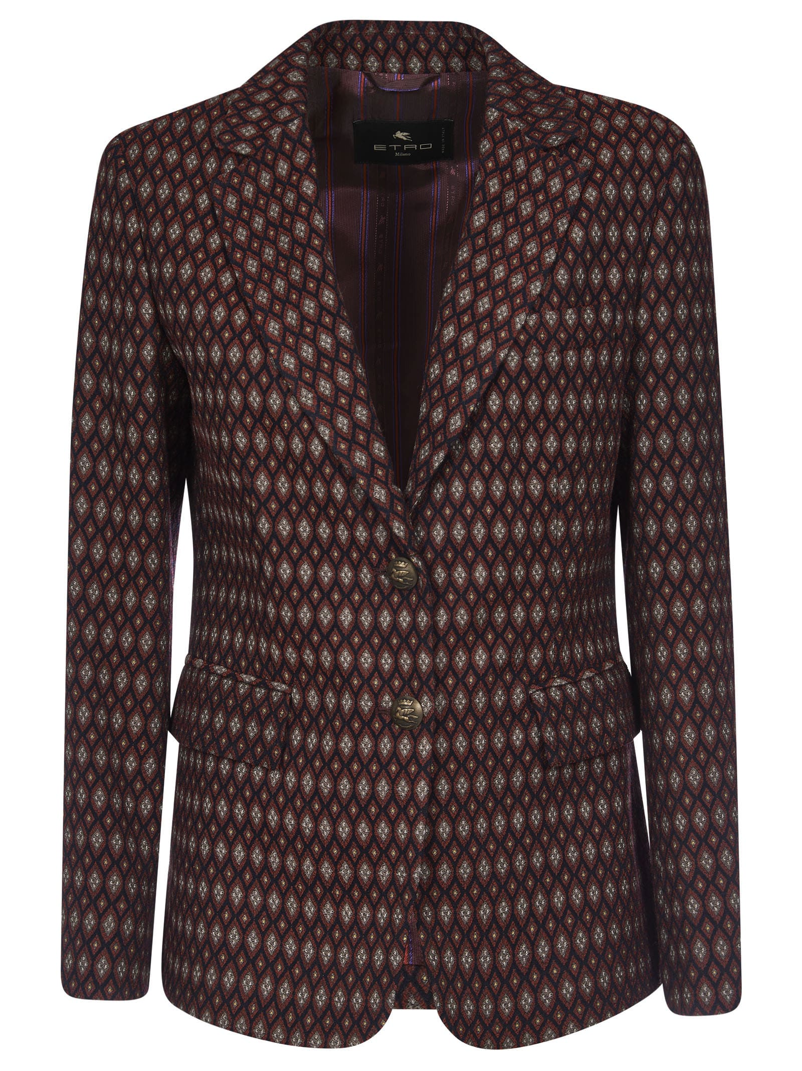Etro Diamond Patterned Blazer