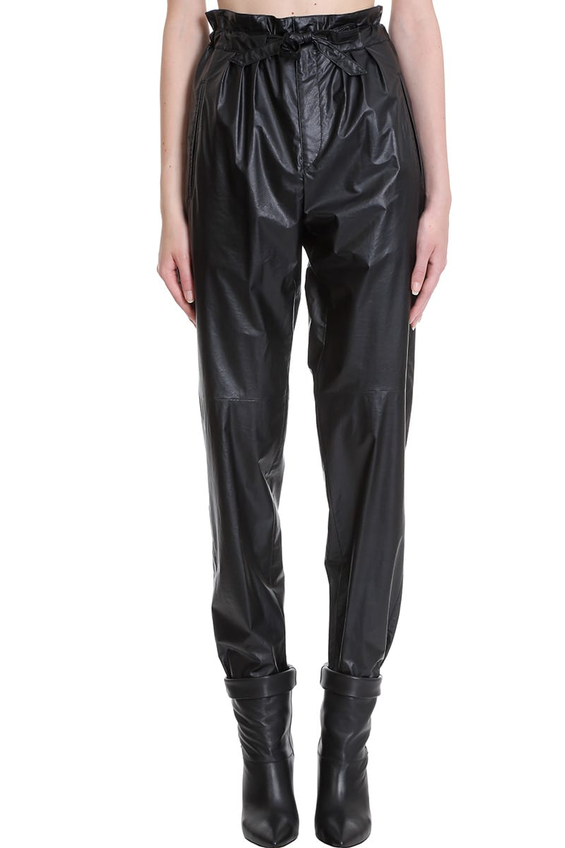 Isabel Marant Duard Pants In Black Tech/synthetic