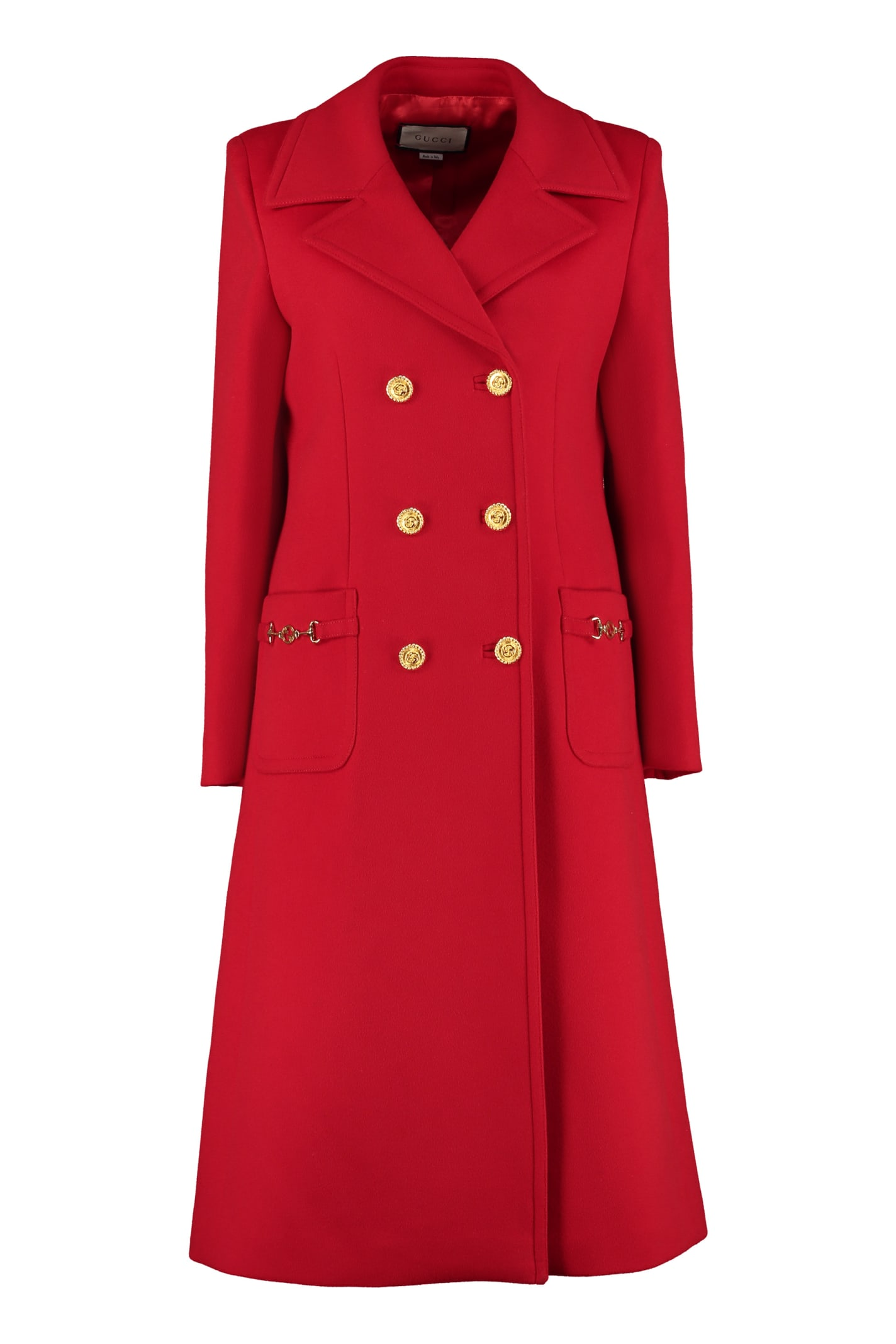 Gucci Coats DOUBLE-BREASTED WOOL COAT