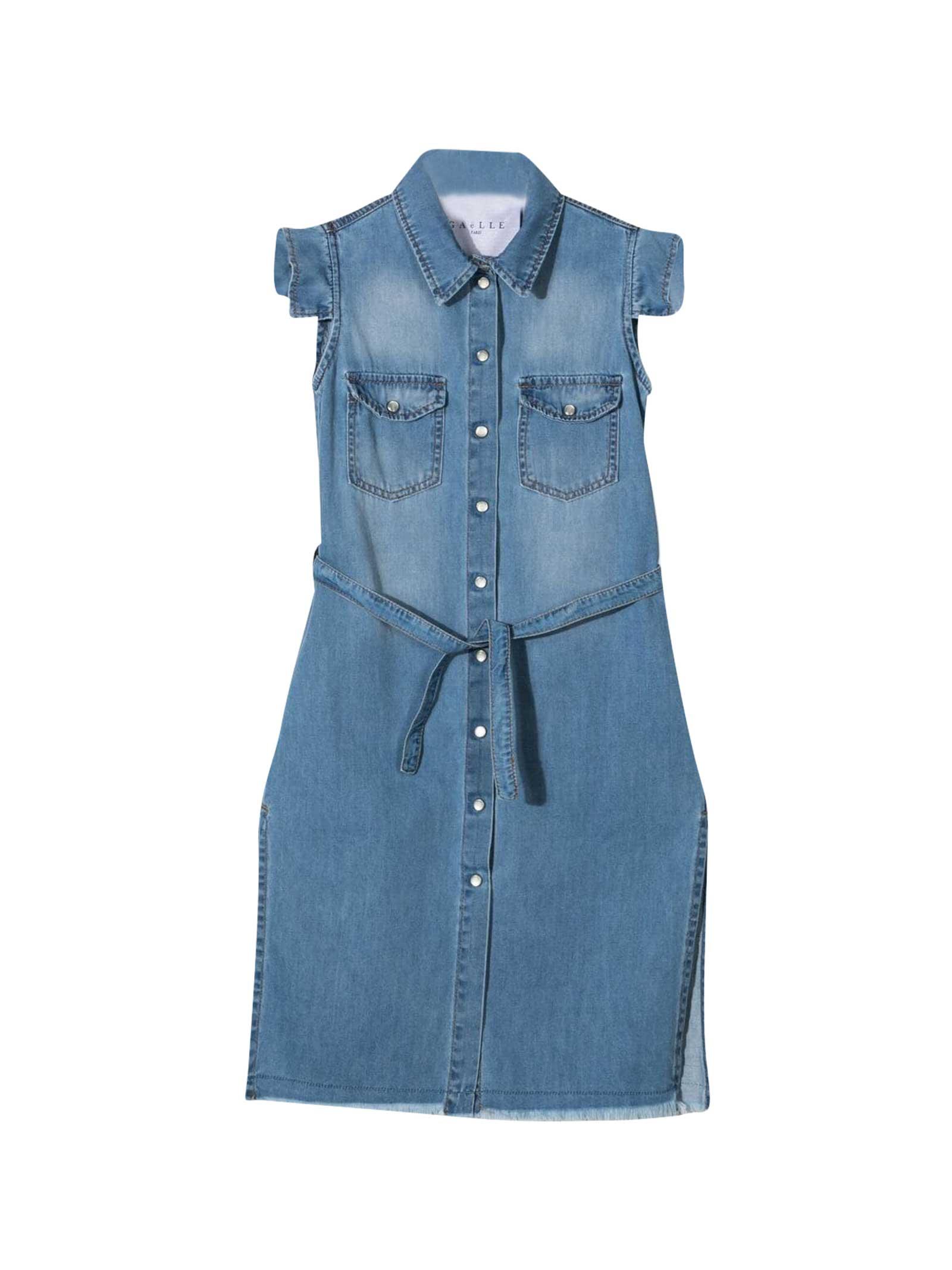 Denim Dress With Buttons