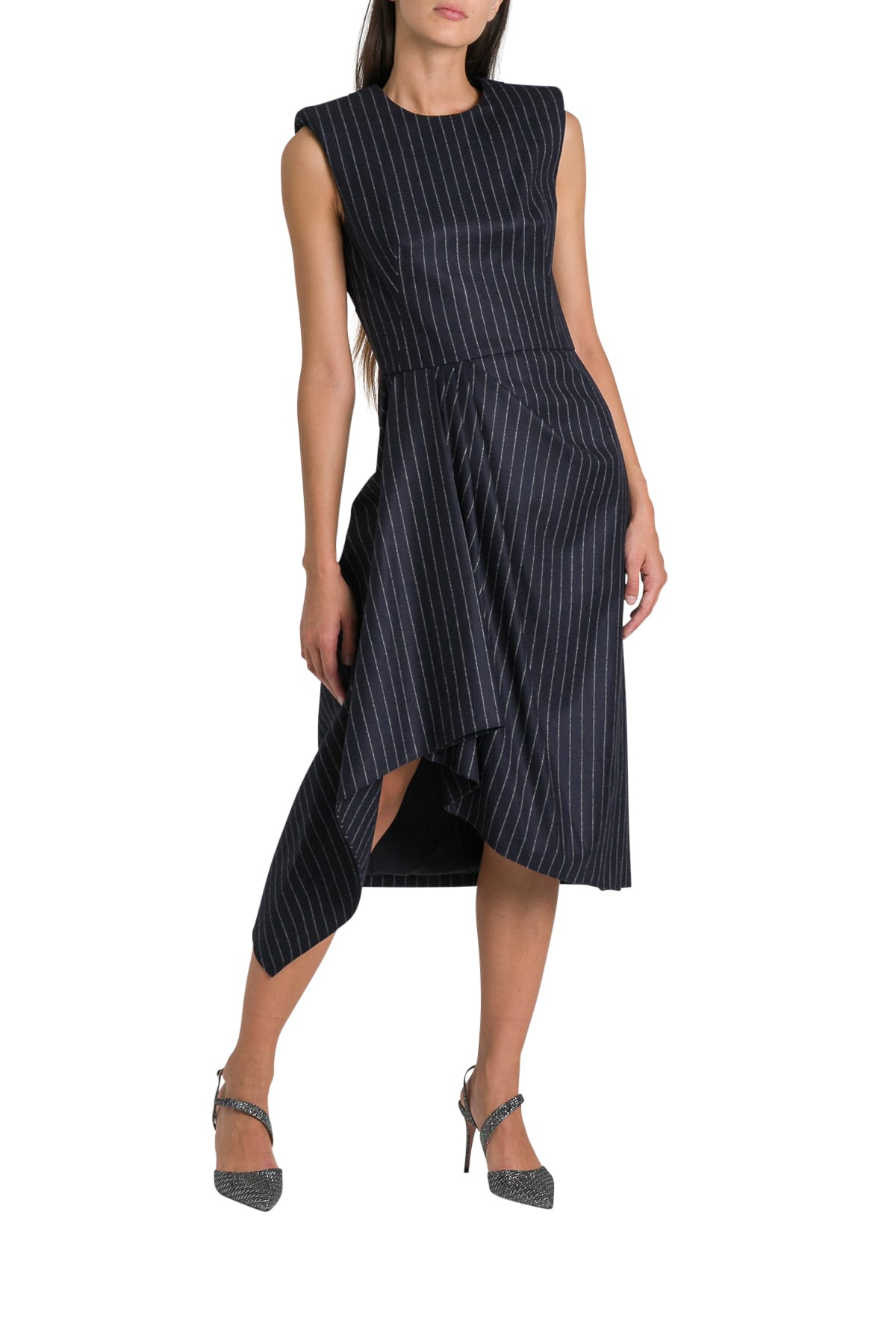 Alexander McQueen Draped Midi Dress
