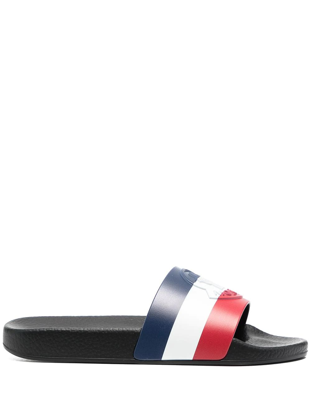 Buy Moncler Woman Black Jeanne Slipper online, shop Moncler shoes with free shipping