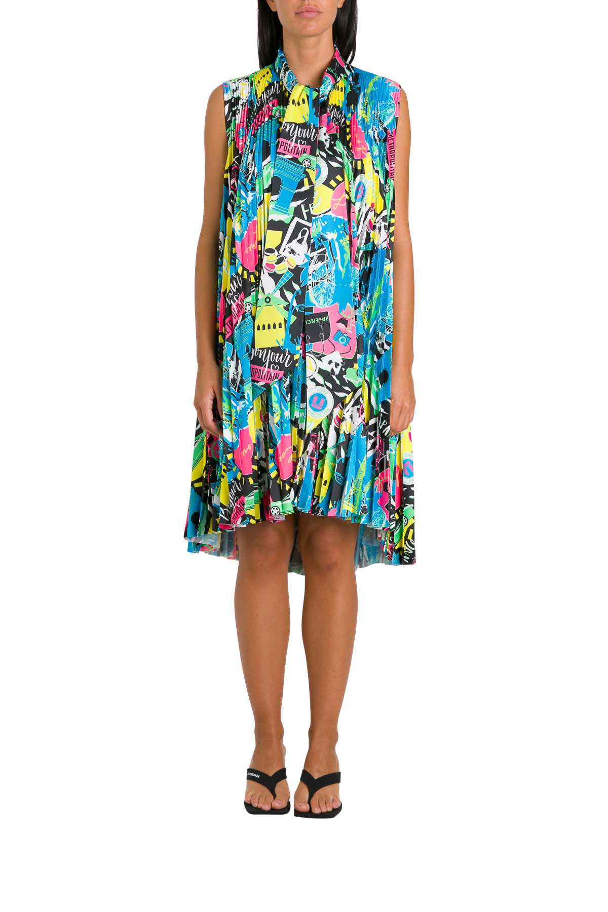 Buy Balenciaga Pleated Paris Dress online, shop Balenciaga with free shipping