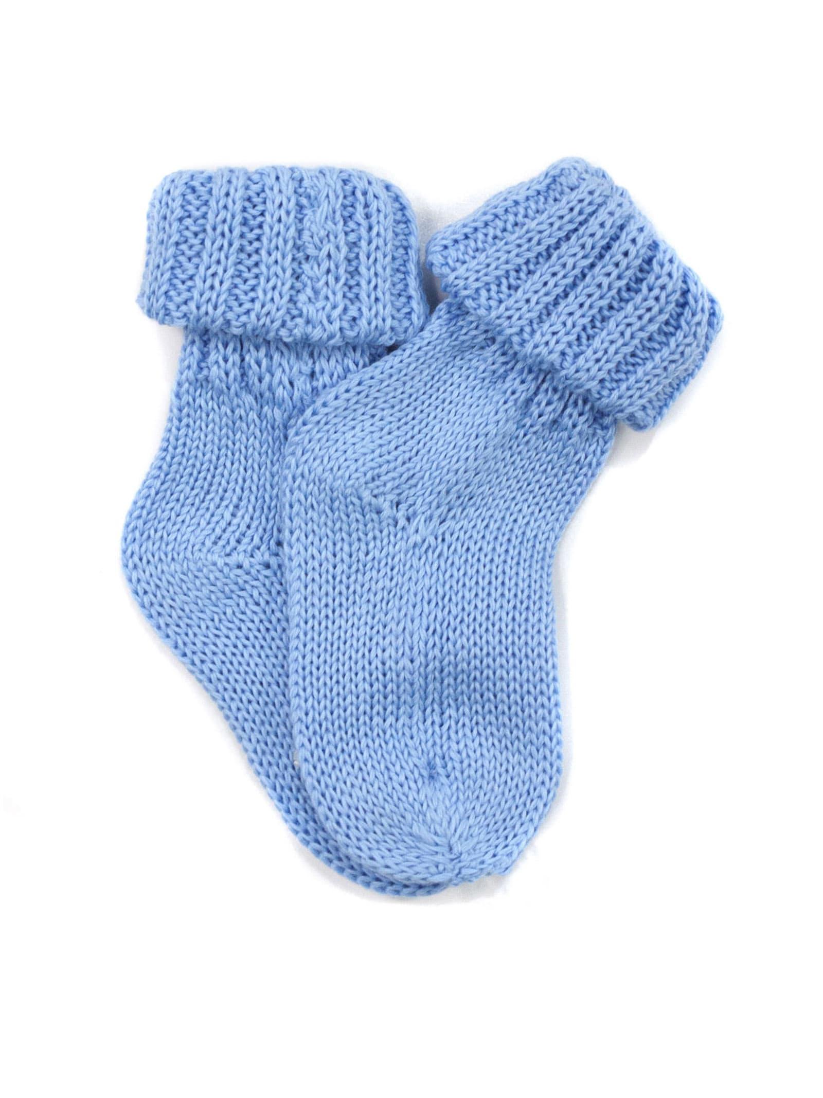 Turquoise Cotton Socks