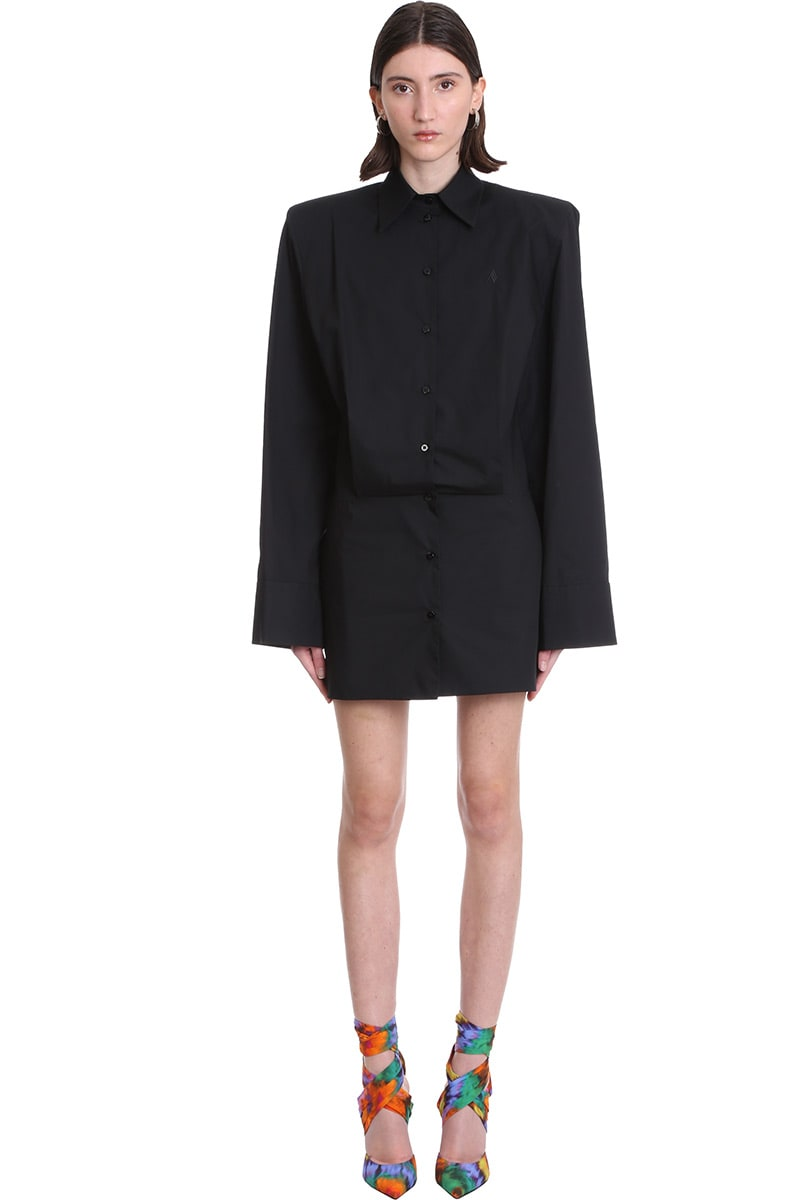 Buy Dress In Black Cotton online, shop The Attico with free shipping