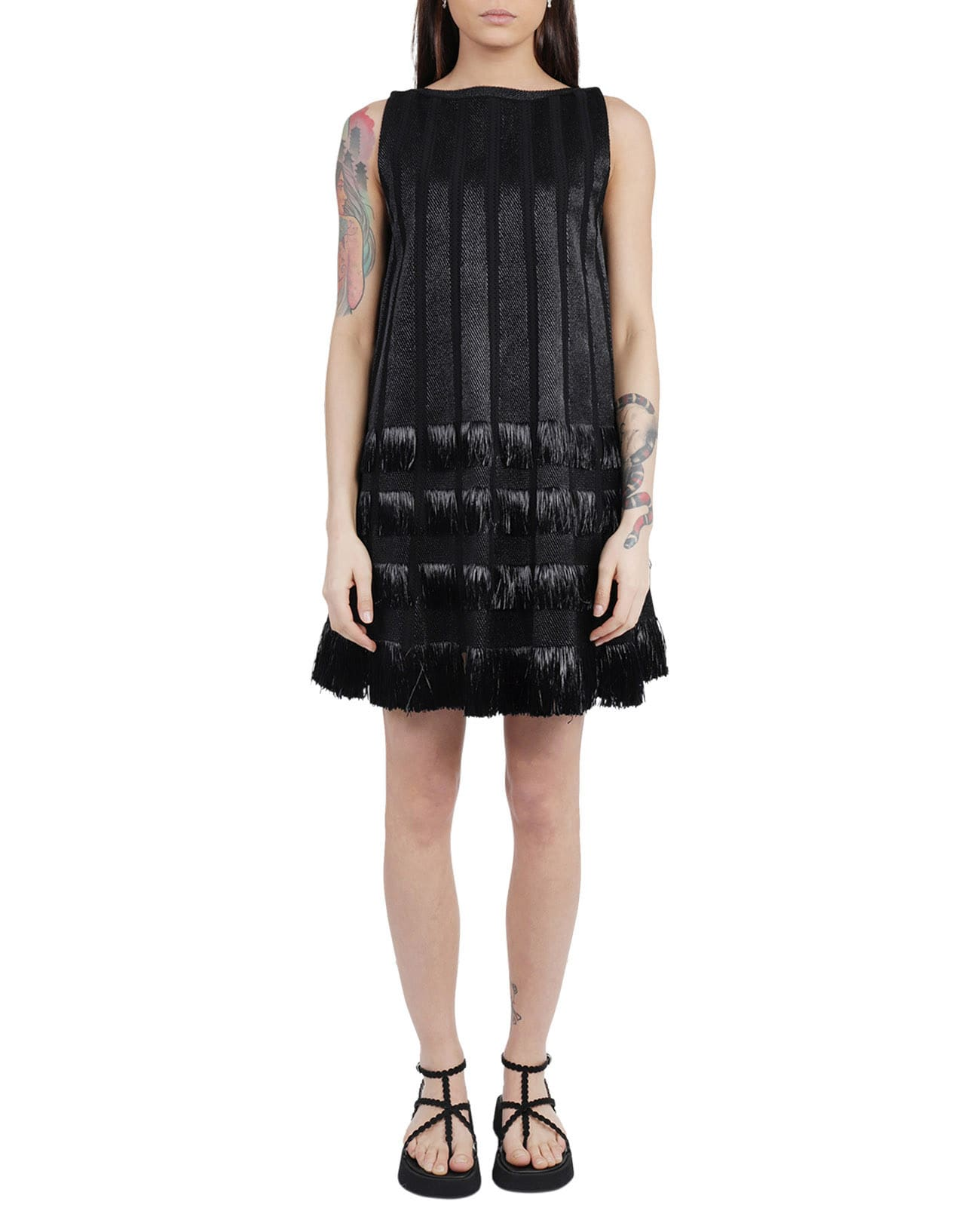Buy Alaia Black Dress online, shop Alaia with free shipping