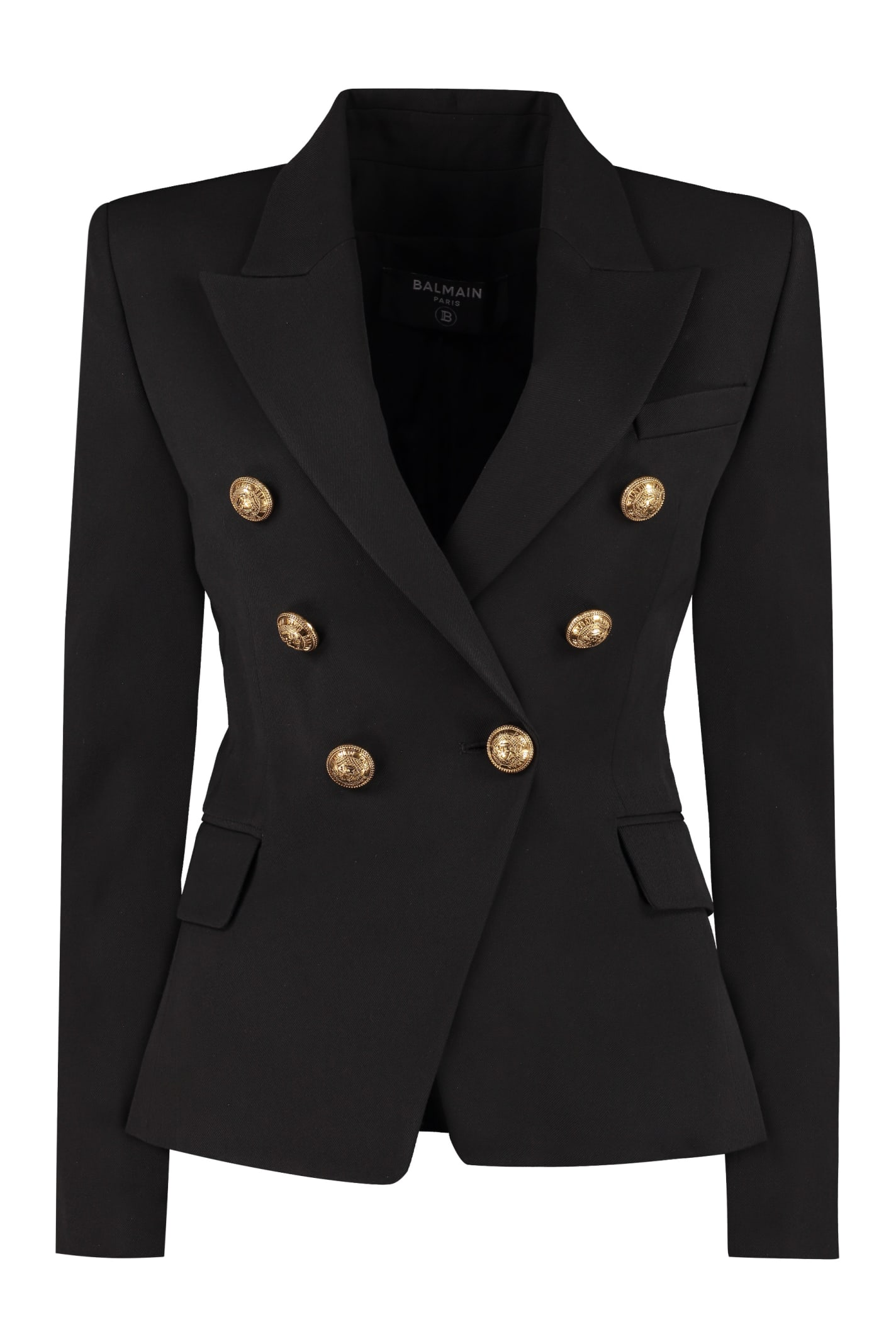 Balmain Double-breasted Blazer In Black