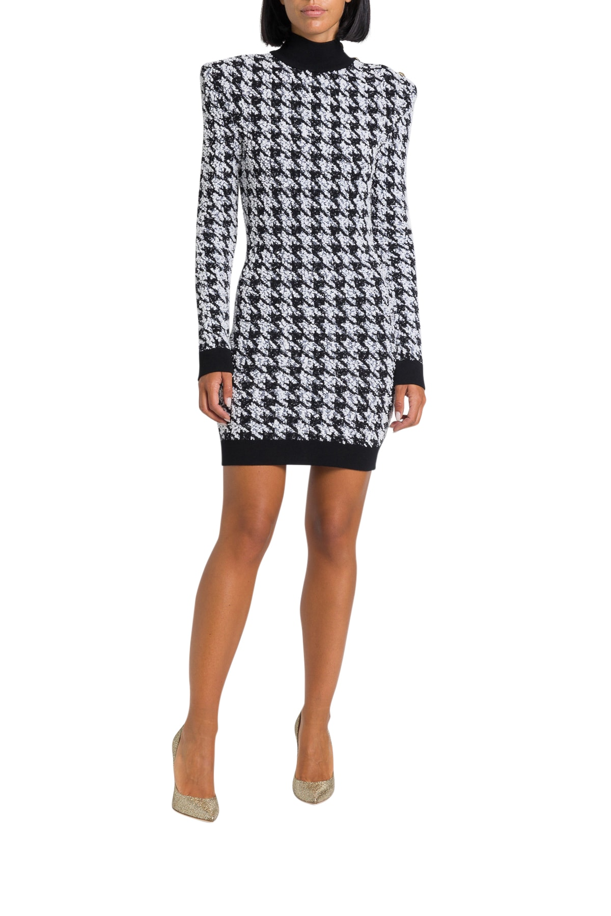 Photo of  Balmain Houndstooth Tweed Crochet Dress- shop Balmain  online sales