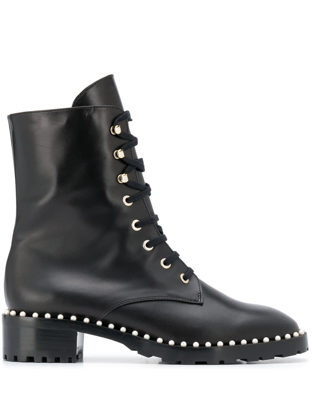 Buy Stuart Weitzman Allie Leather Ankle Boots With Studs Detail online, shop Stuart Weitzman shoes with free shipping