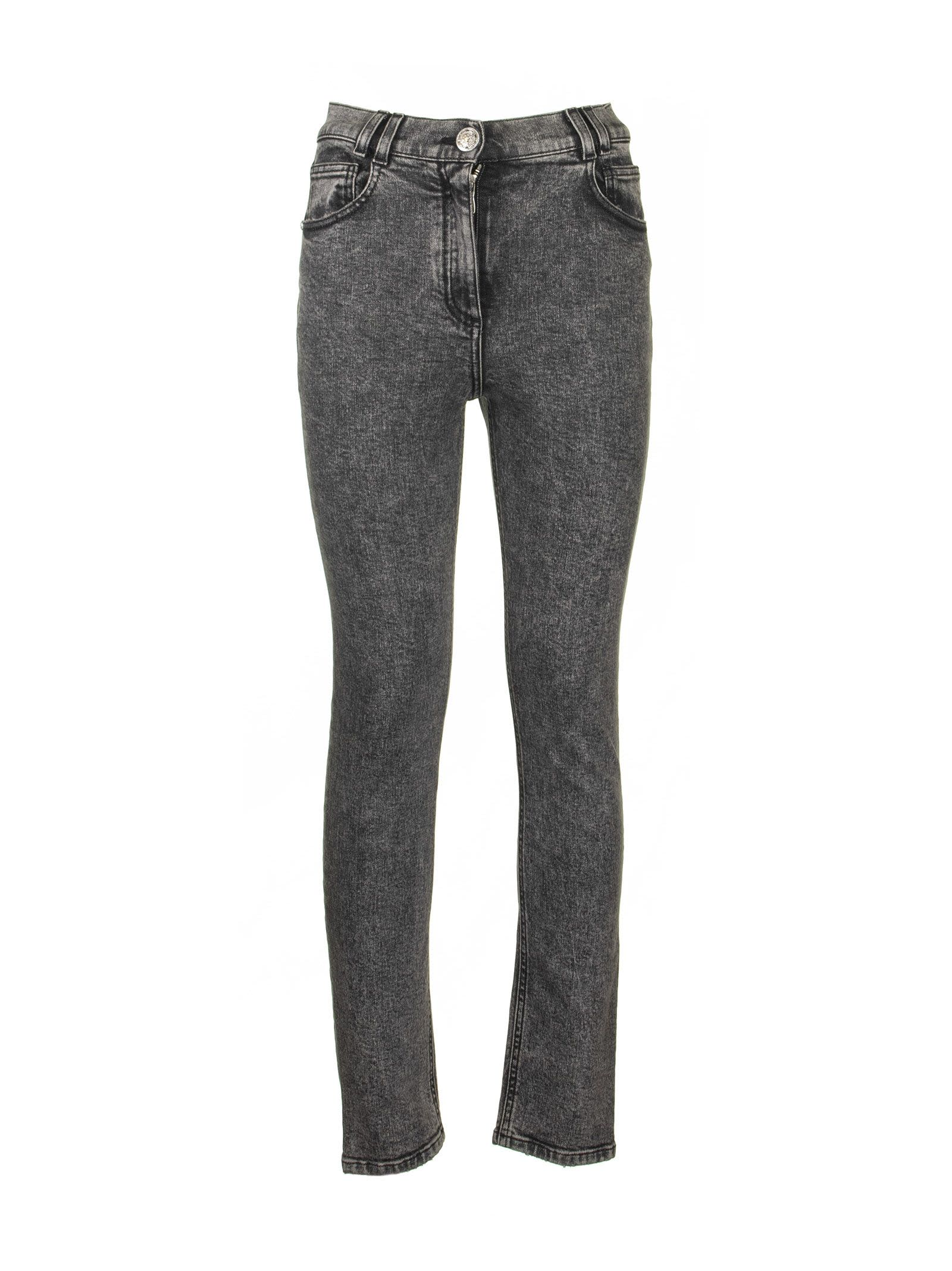 Balmain Black Skinny Jeans Denim Cotton