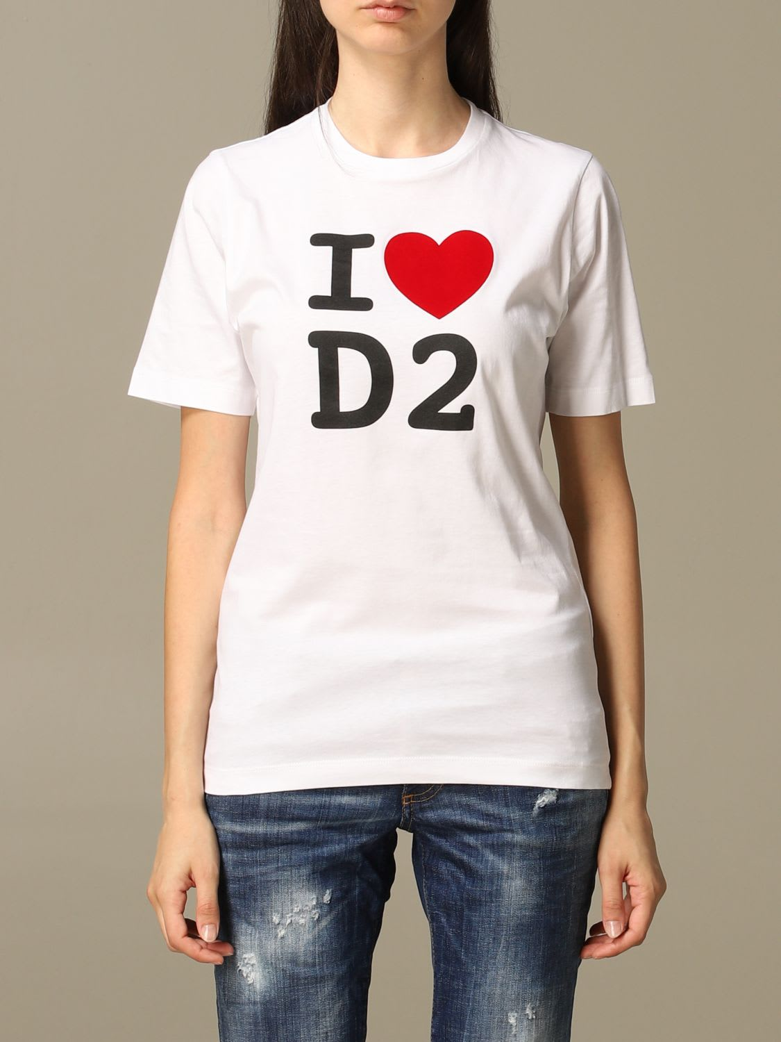 Dsquared2 T-shirt Dsquared2 Crew Neck T-shirt With I Love D2 Print