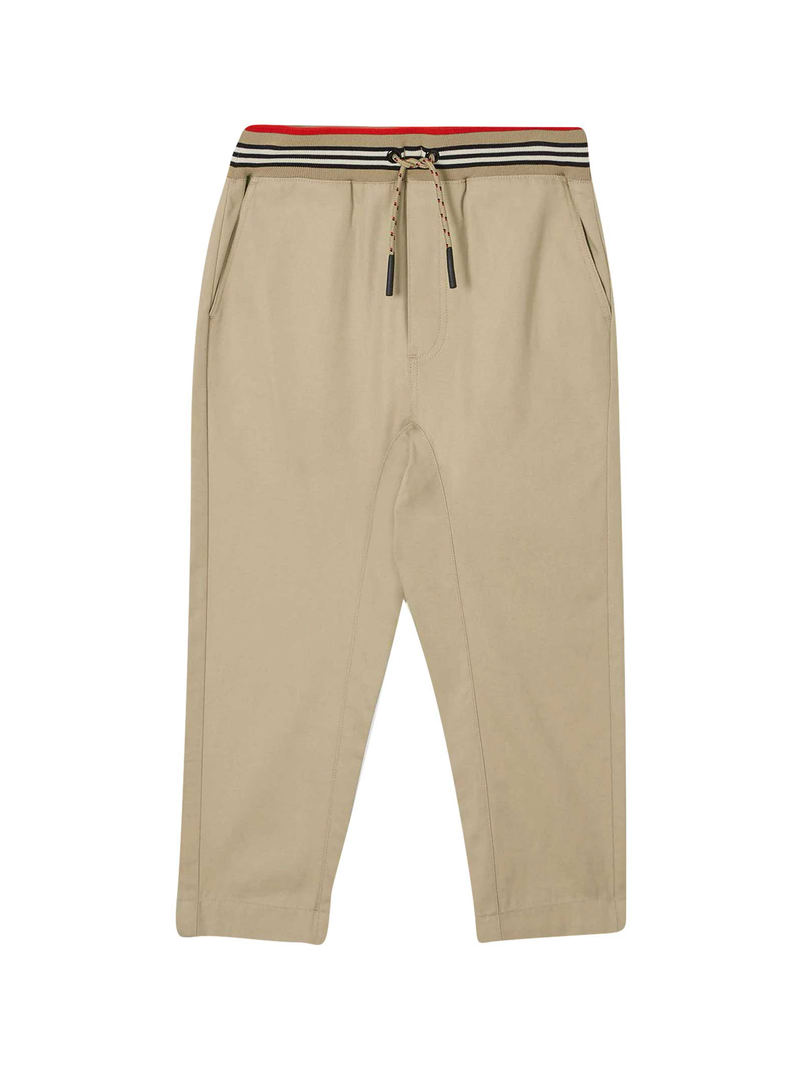 Burberry Kids' Beige Trousers In Sabbia