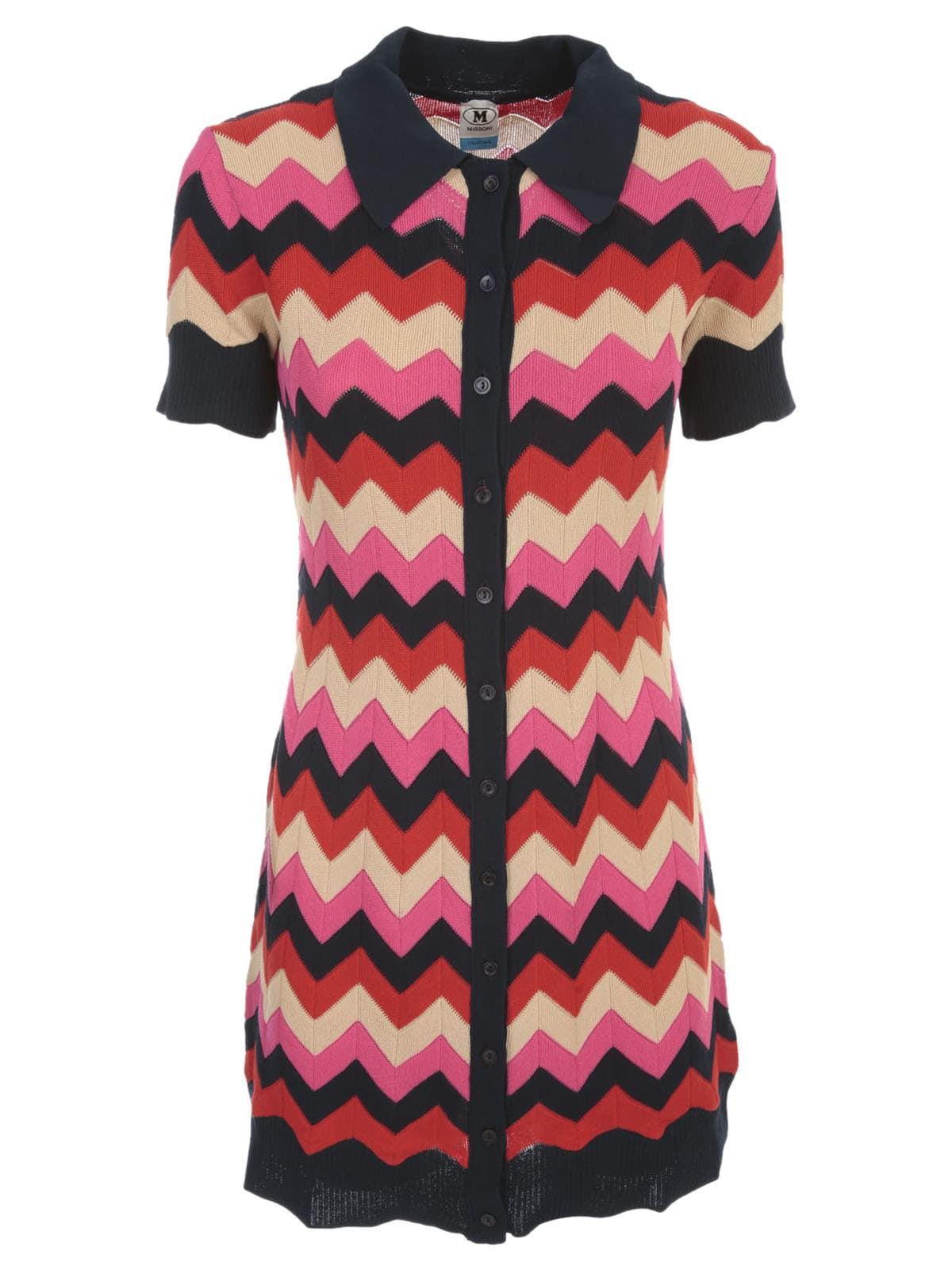 Buy M Missoni Short Dress W/collar online, shop M Missoni with free shipping