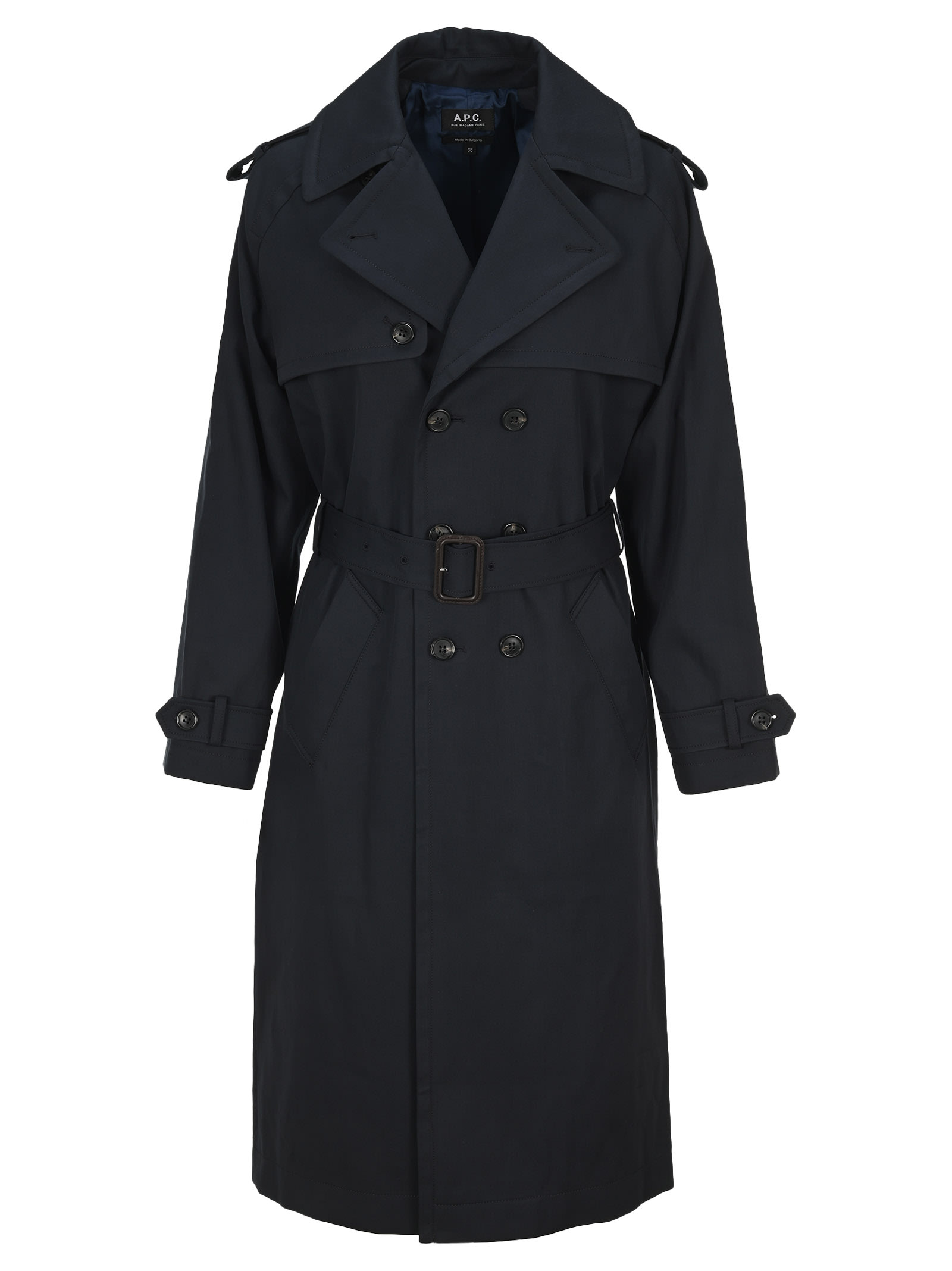A.p.c. SIMONE DOUBLE-BREASTED TRENCH COAT
