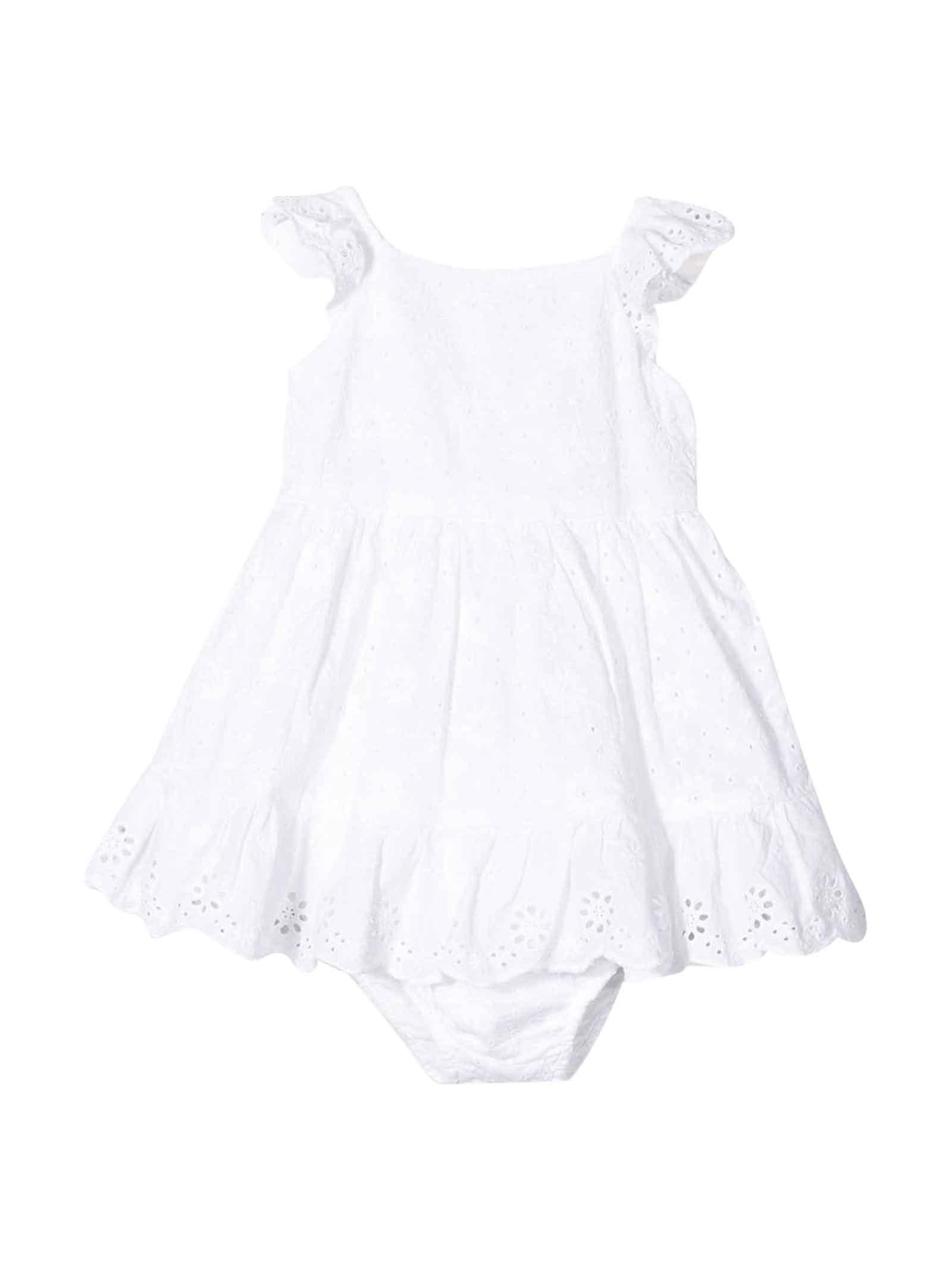 Buy Ralph Lauren White Dress online, shop Ralph Lauren with free shipping