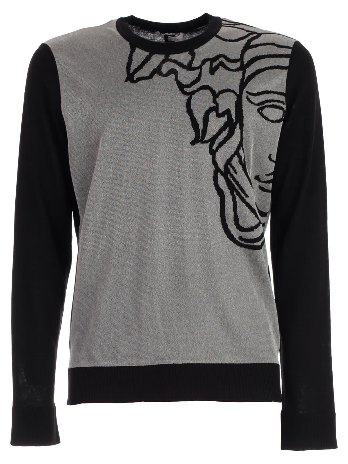 wholesale dealer d0b79 3573b Best price on the market at italist | Versace Collection Versace Collection  Sweater L/s W/medusa On Shoulder